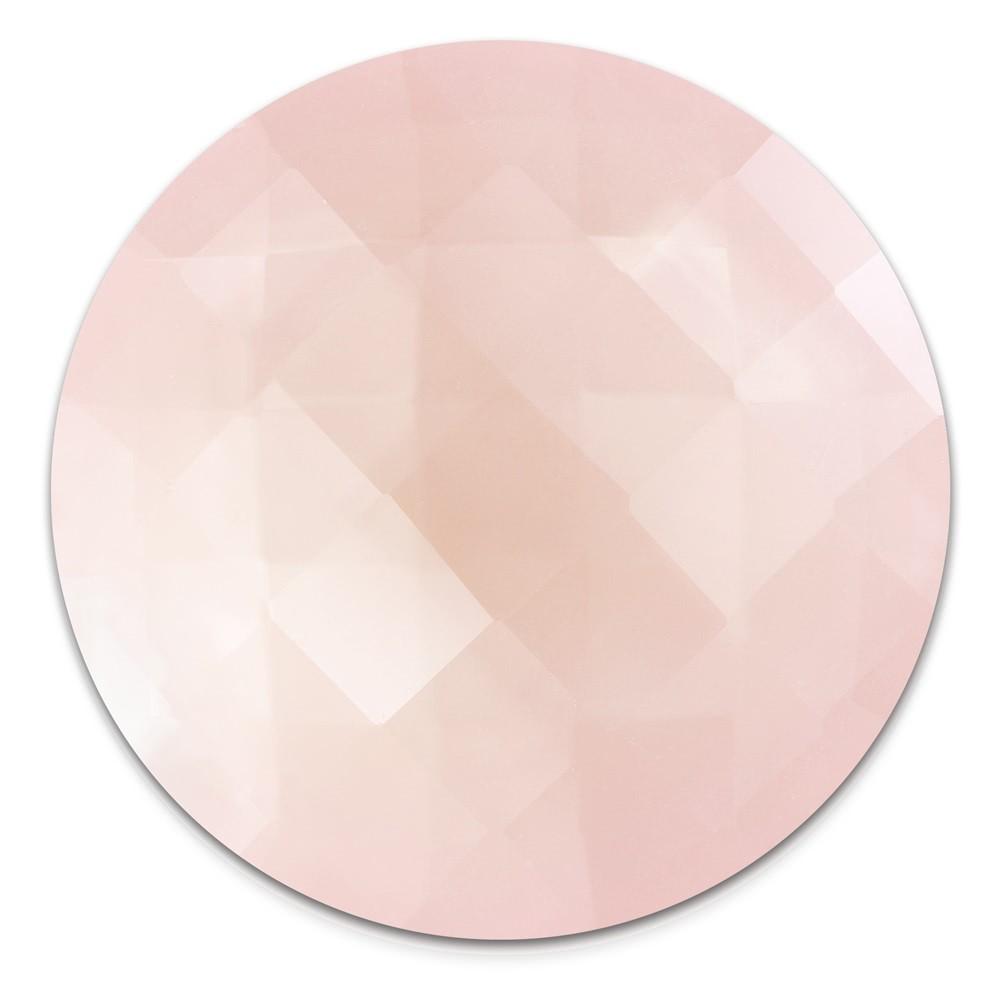 Amello Coin Acryl 30mm rosa für Coinsfassung Edelstahlschmuck ESC708A