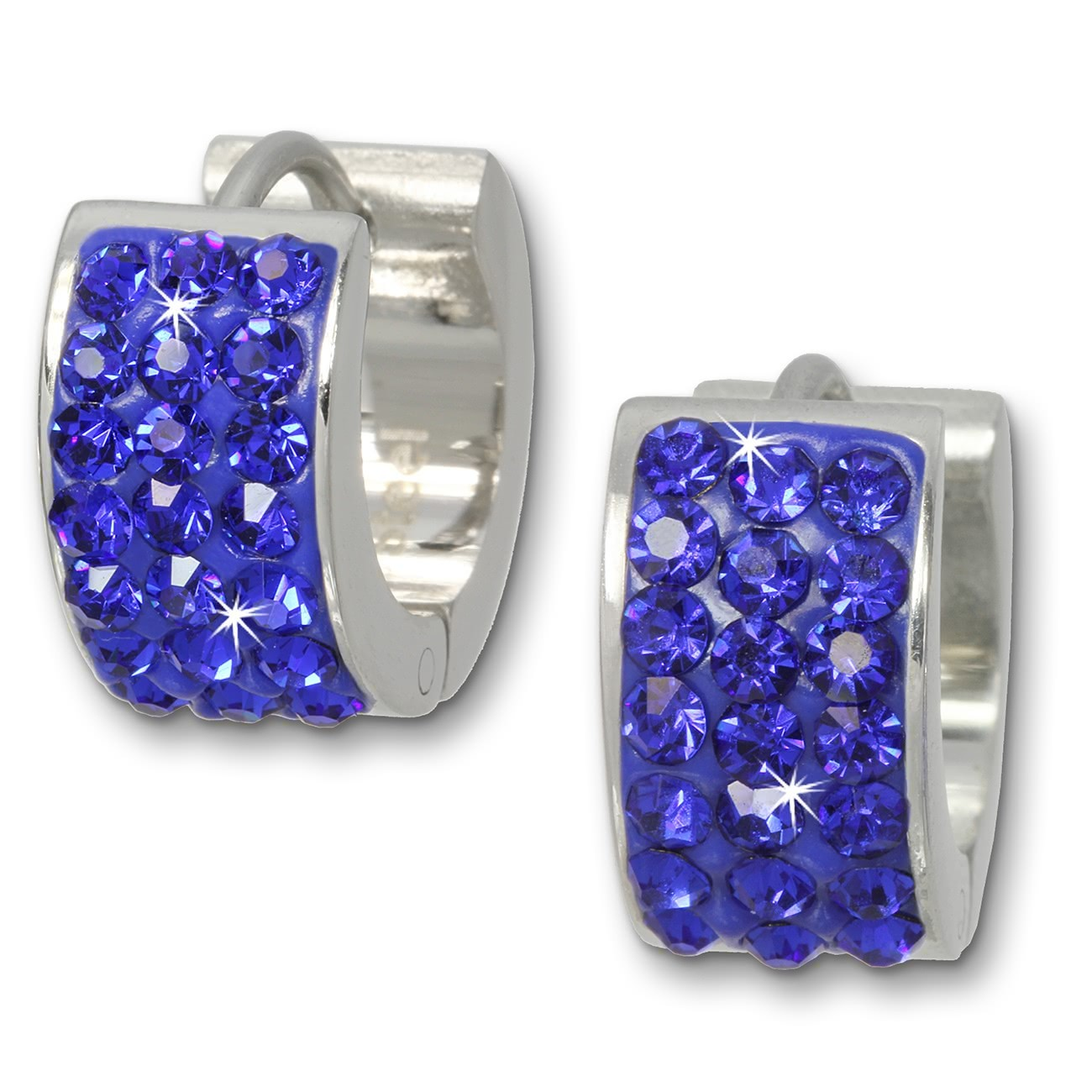 Amello Creole Edelstahl Zirkonia blau Damen Ohrring ESOS01B