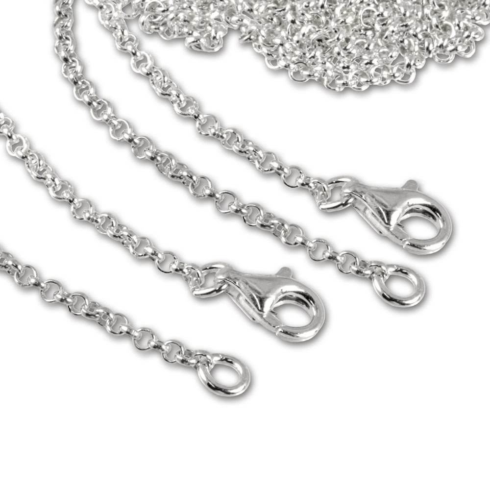 SilberDream 925 Silber Charm Halskette Set 2x70cm FC00297-2