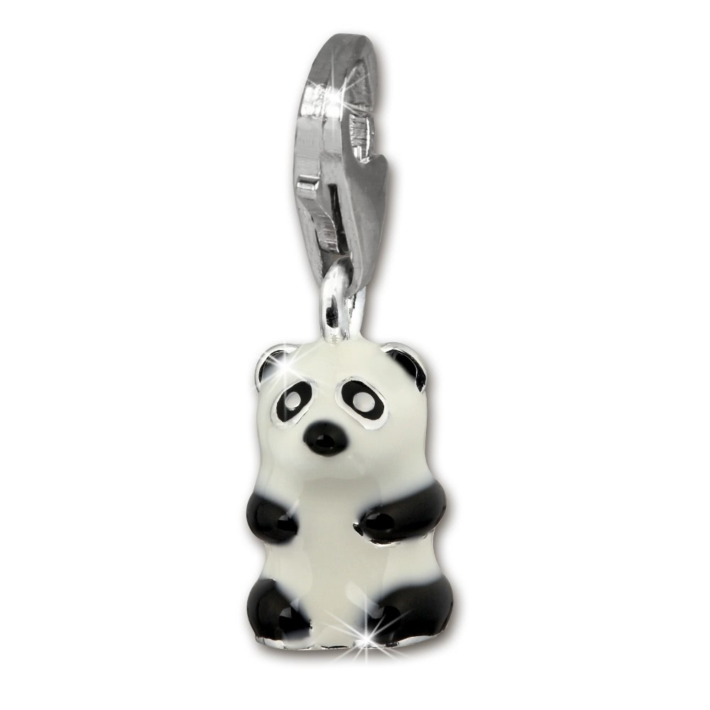 SilberDream 925 Charm Pandabär Armband Anhänger FC1019