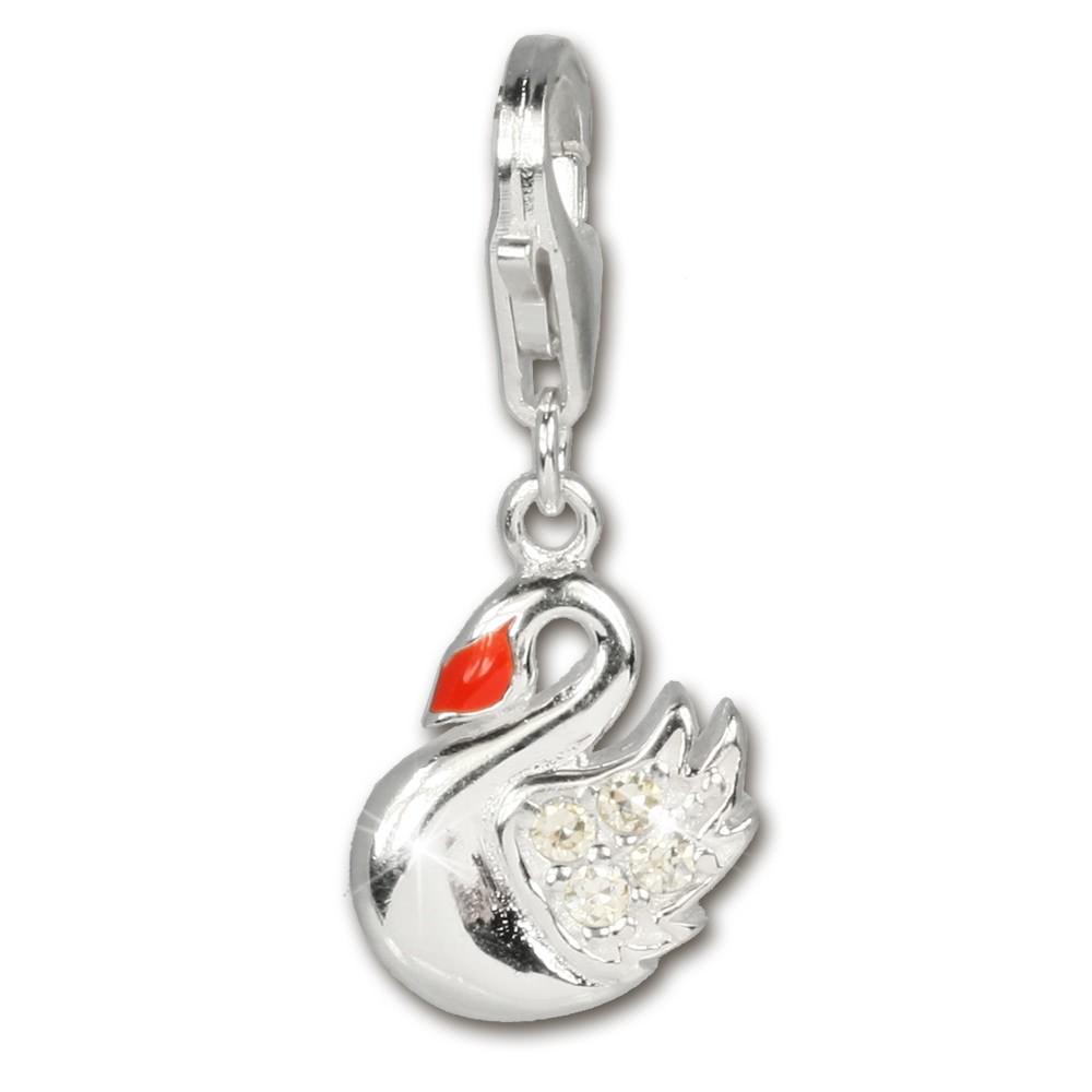 SilberDream Charm Schwan Armband Anhänger 925 Silber FC254W