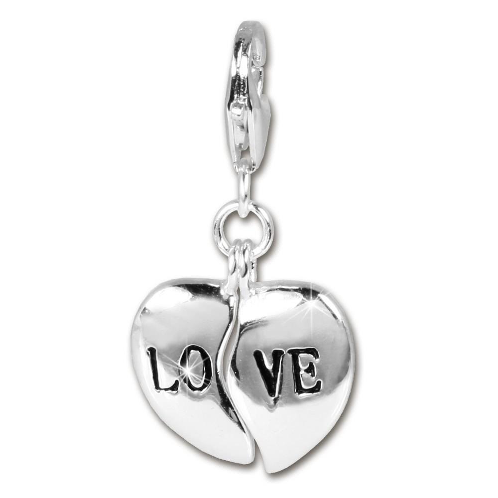 SilberDream 925 Charm Herz LOVE Armband Anhänger Silber FC3008