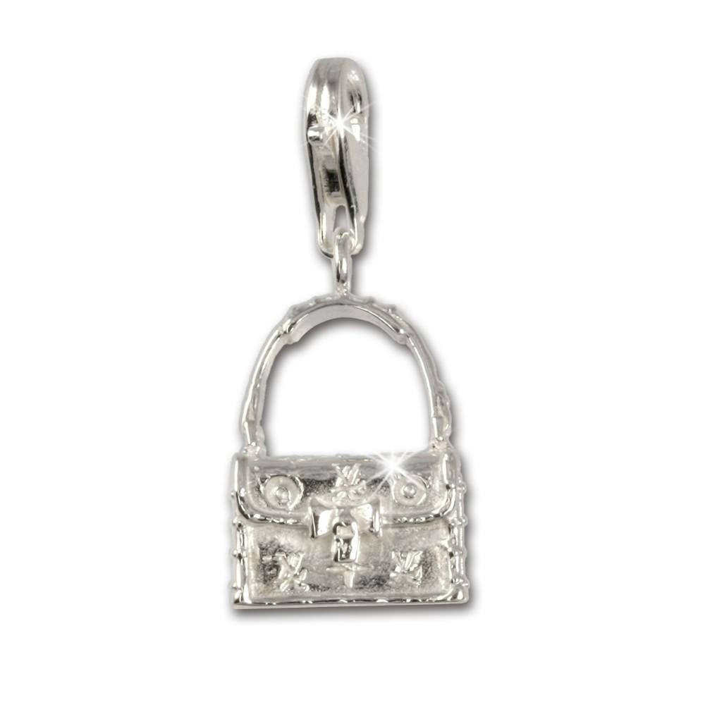 SilberDream 925 Charm Täschchen Armband Anhänger FC3028