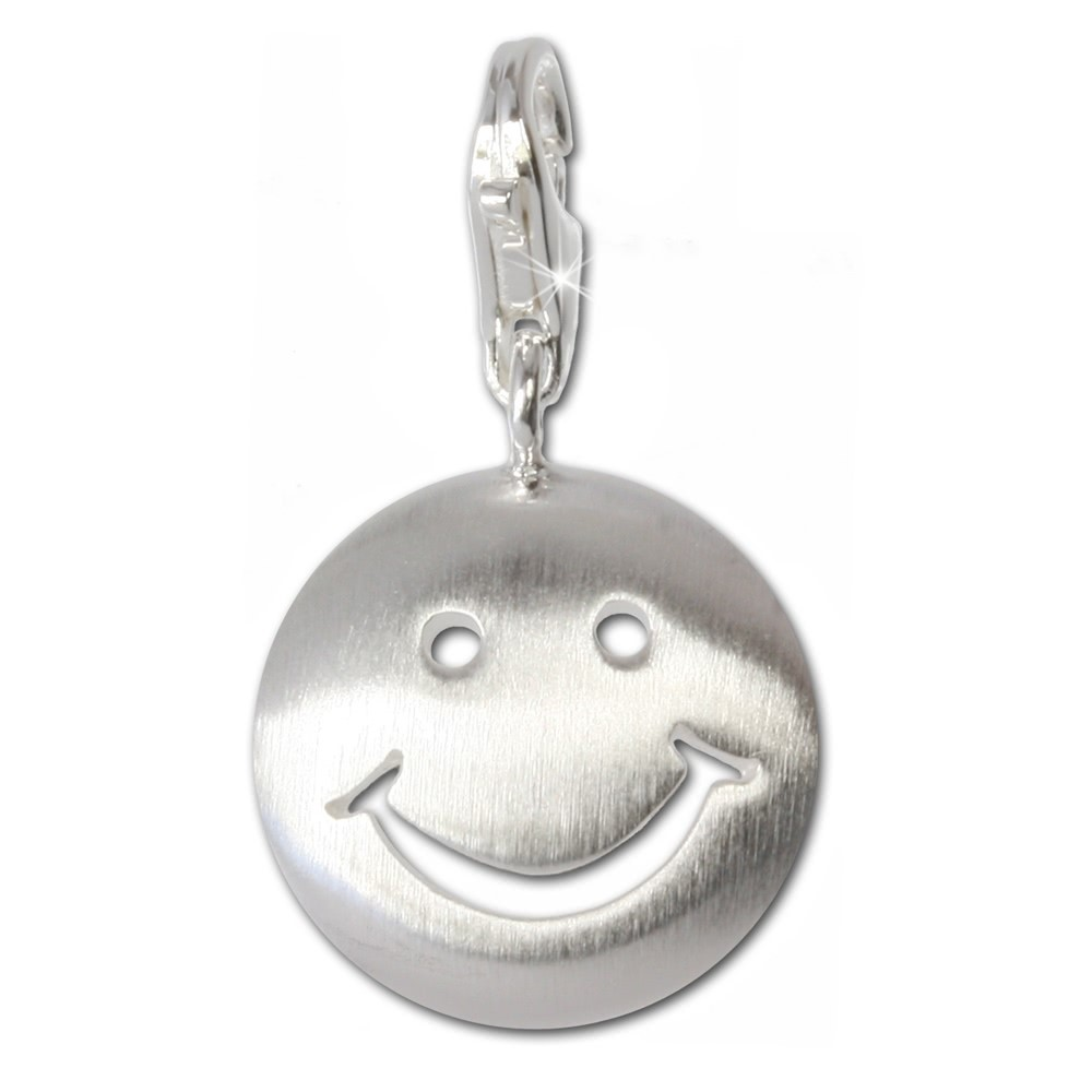SilberDream 925 Charm Smiley Silber Armband Anhänger FC3111