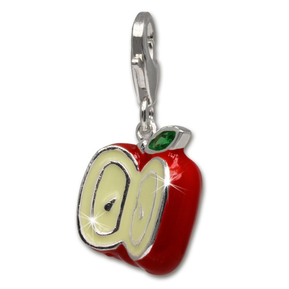 SilberDream Charm Apfel rot 925er Silber Armband Anhänger FC3142R