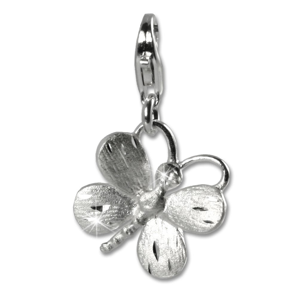 SilberDream Silber Charm Schmetterling Armband Anhänger FC503