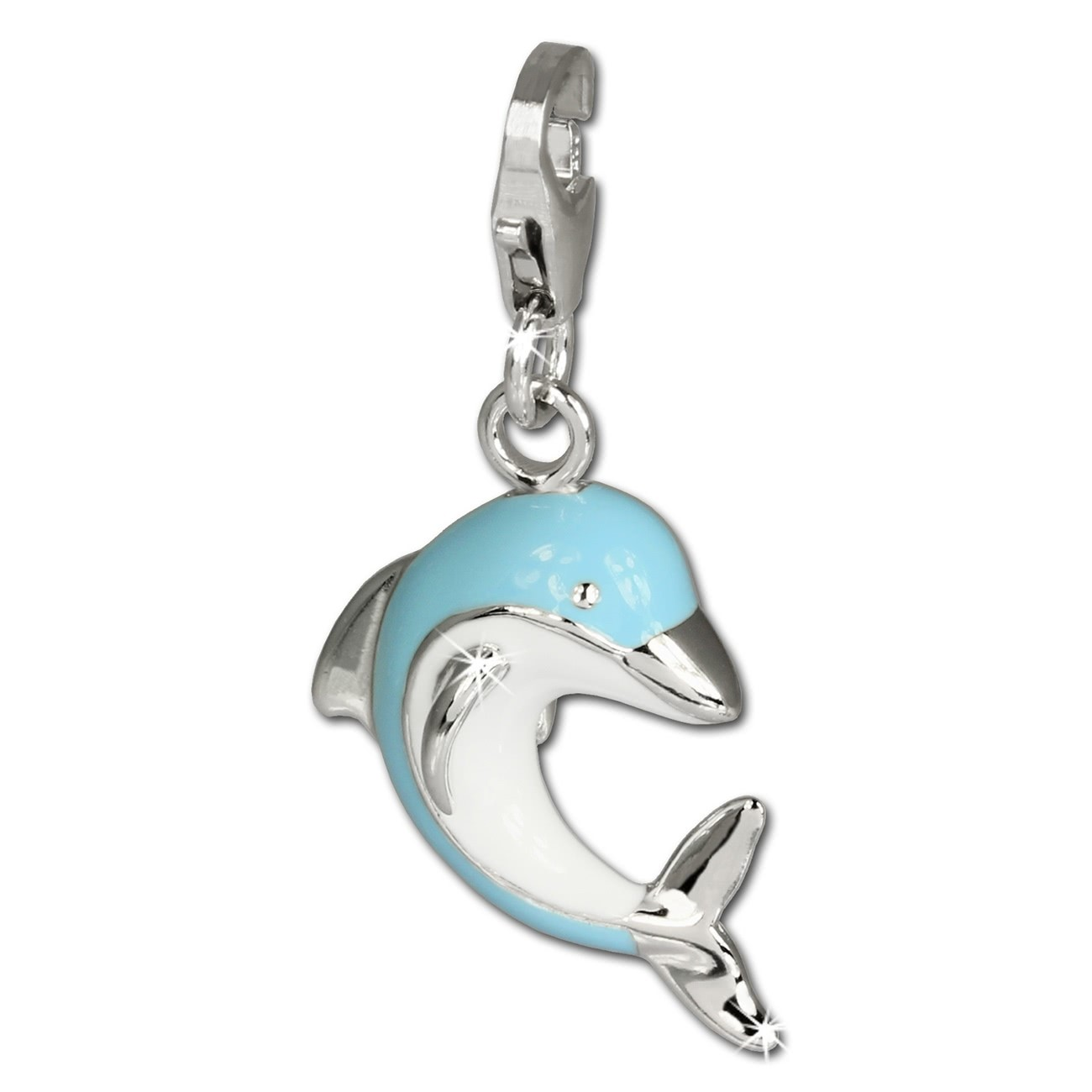 SilberDream Charm Delfin 925 Sterling Silber Armband Anhänger FC654