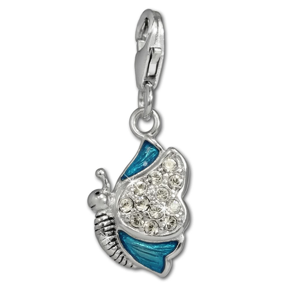 SilberDream Charm Schmetterling 925er Silber Armband Anhänger FC670