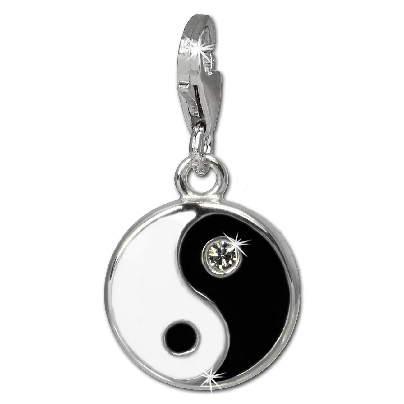 SilberDream Charm YinYang 925er Armband Anhänger FC840S