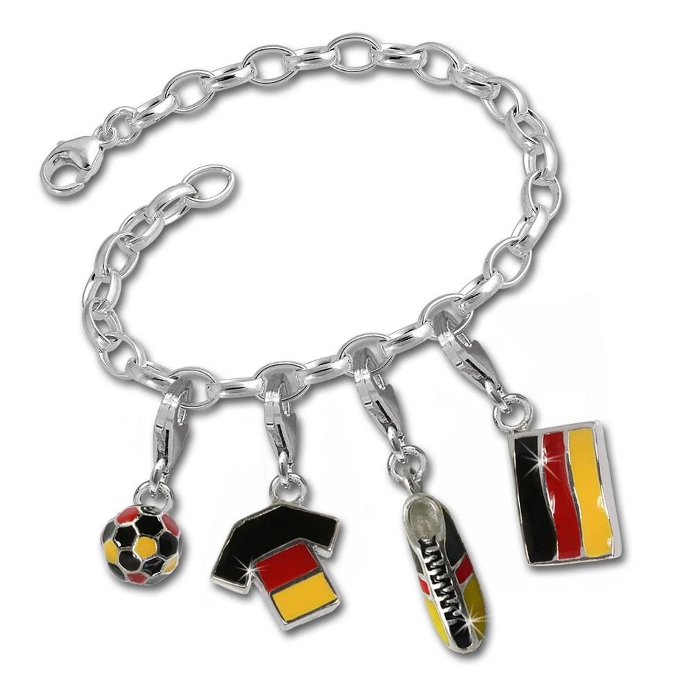SilberDream Armband Deutschland FAN Set Silber Charms Anhänger FCA040