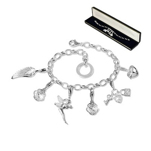 SilberDream Set Silber Charm Armband und Charms Anhänger FCA078