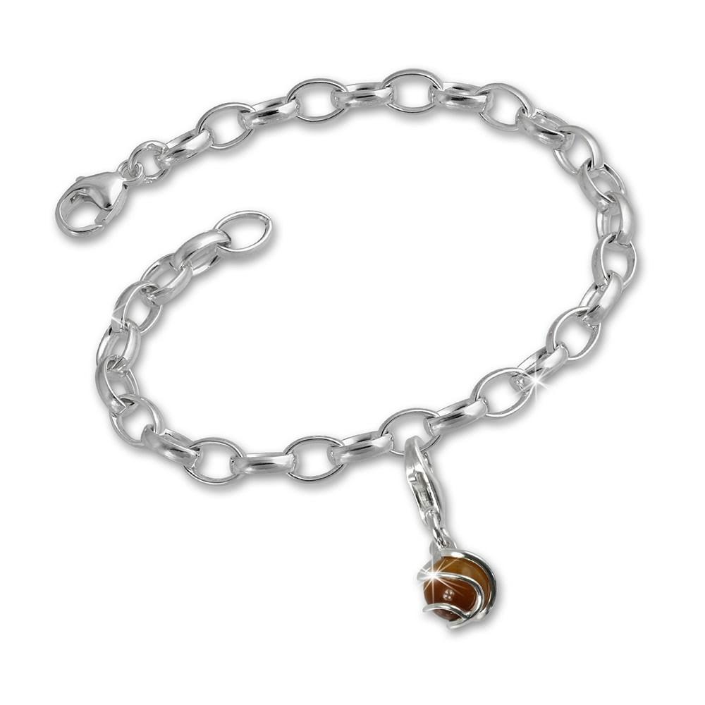 SilberDream 925 Charms Kugel Silber Armband Anhänger Set FCA108