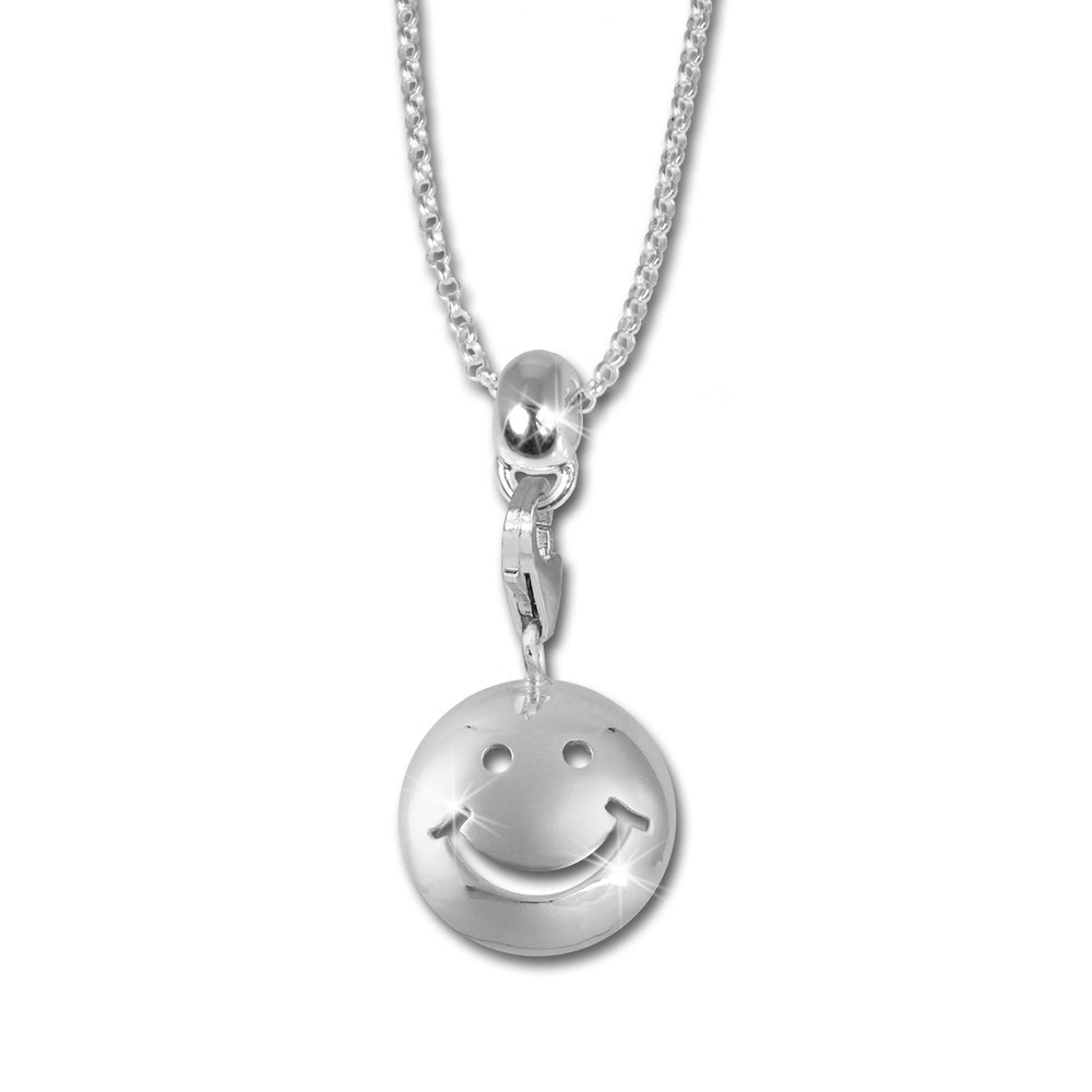 SilberDream Kinder Set Kette + Charm Smiley 925 Silber FCA124