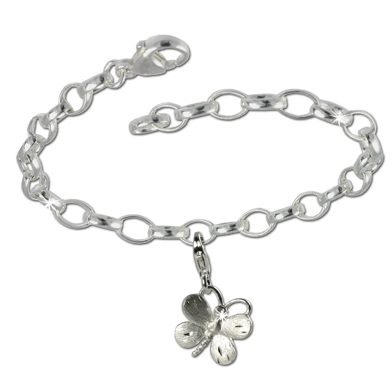 SilberDream 925 Charm Set Schmetterling Silber Armband Anhänger FCA134