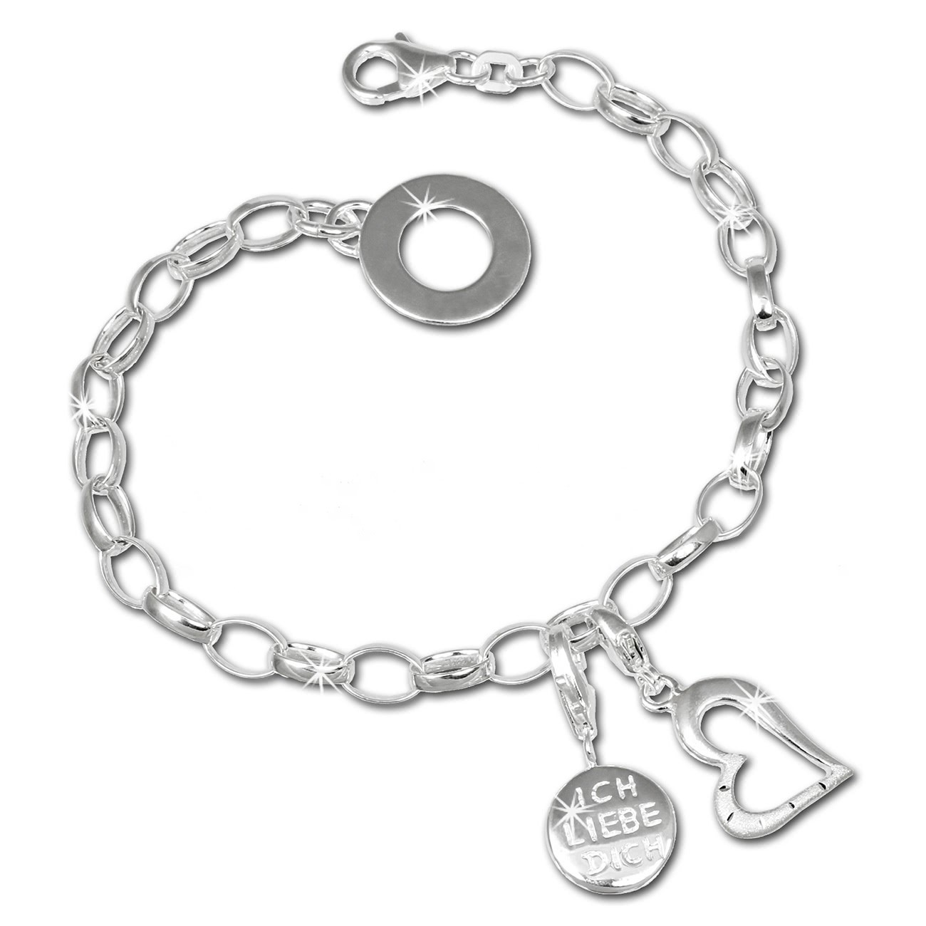 SilberDream Charm Set Glück 925er Silber Armband Anhänger FCA307