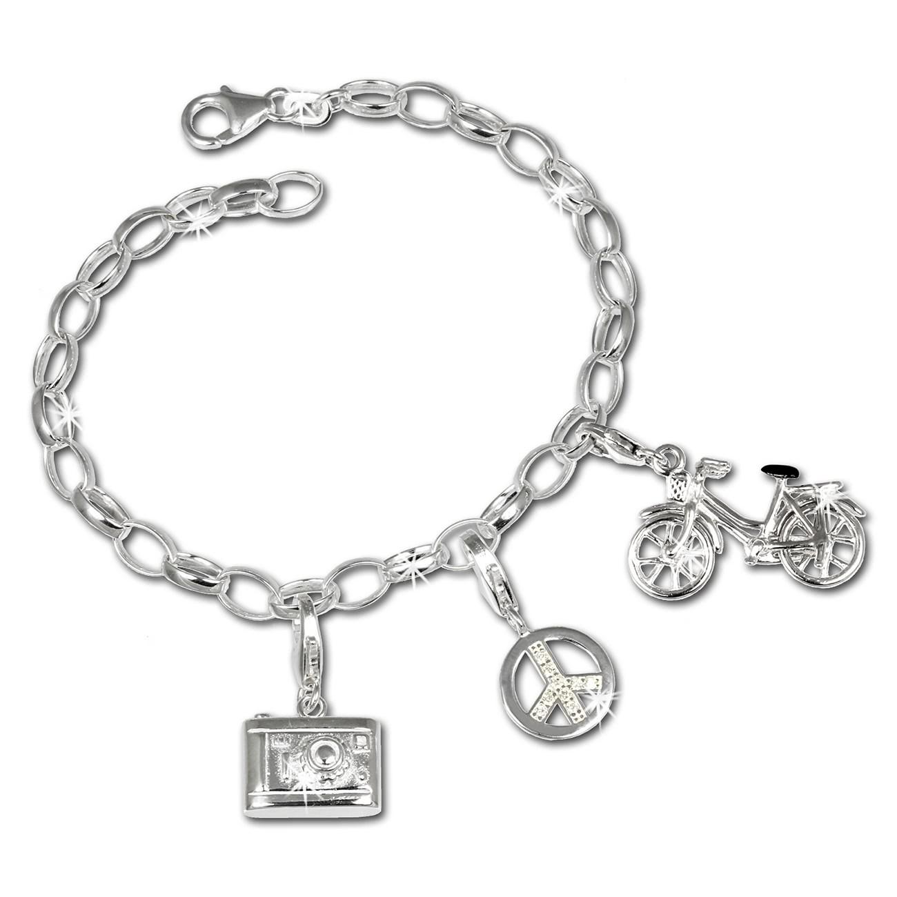 SilberDream Charm Set Urlaub 925er Silber Armband Anhänger FCA312