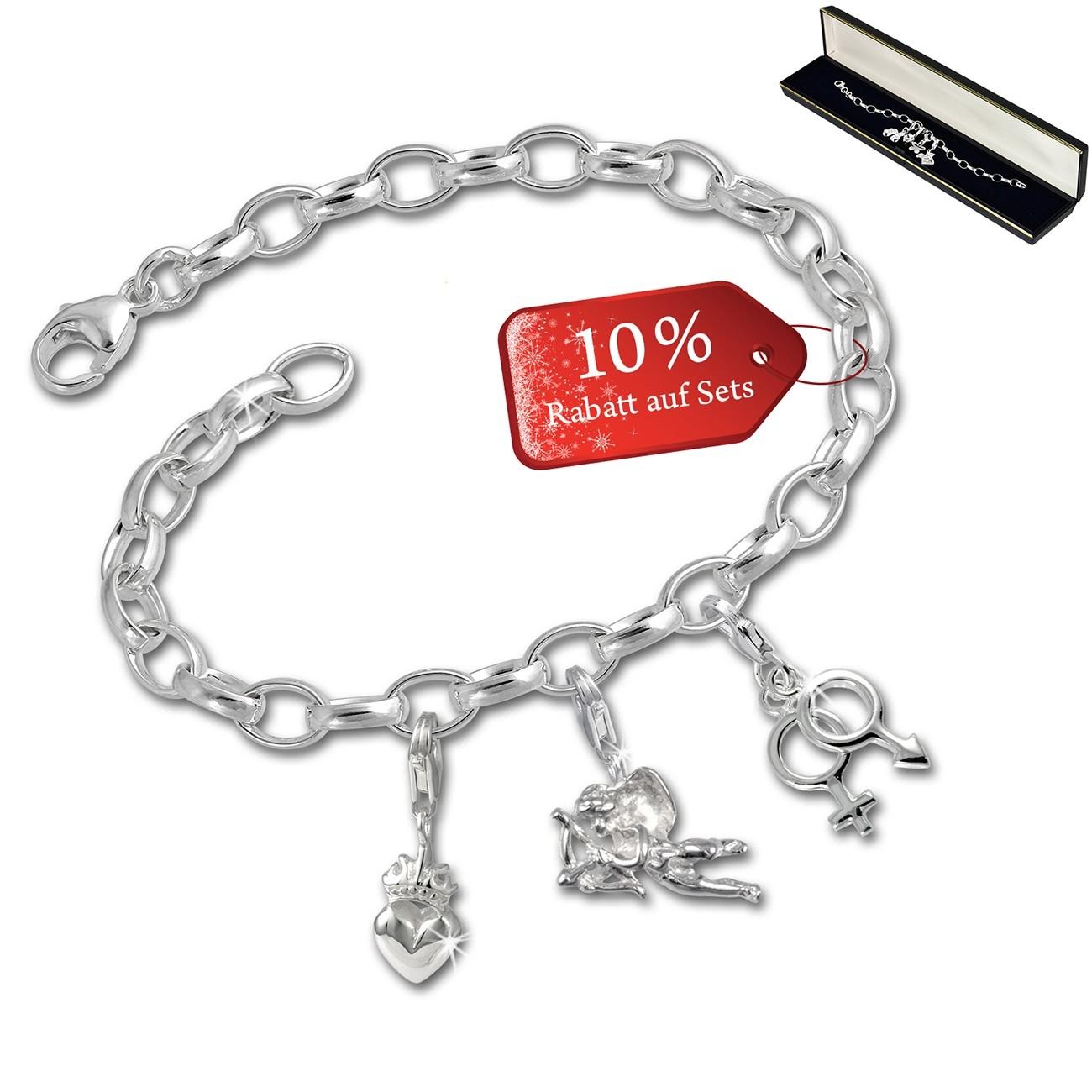 SilberDream Armband Fashion Charm Set Amore 925er Anhänger FCA328