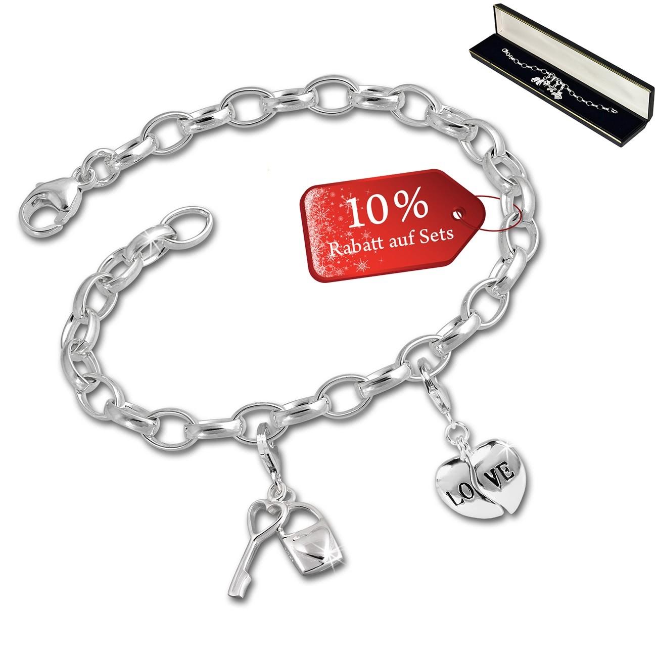 SilberDream Armband Fashion Charm Set Dein Herz 925 Anhänger FCA332