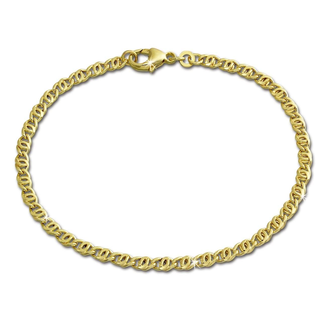 SilberDream Armband Tigerauge 333 Gold 19cm 8 Karat GDA0039Y