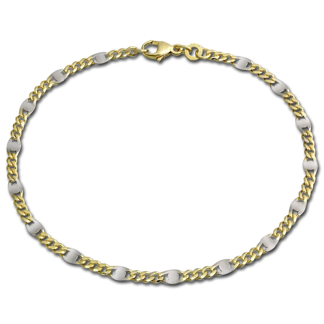 GoldDream Armband Plättchen 333 Gelbgold Damen 21cm 8 Karat GDA0041T