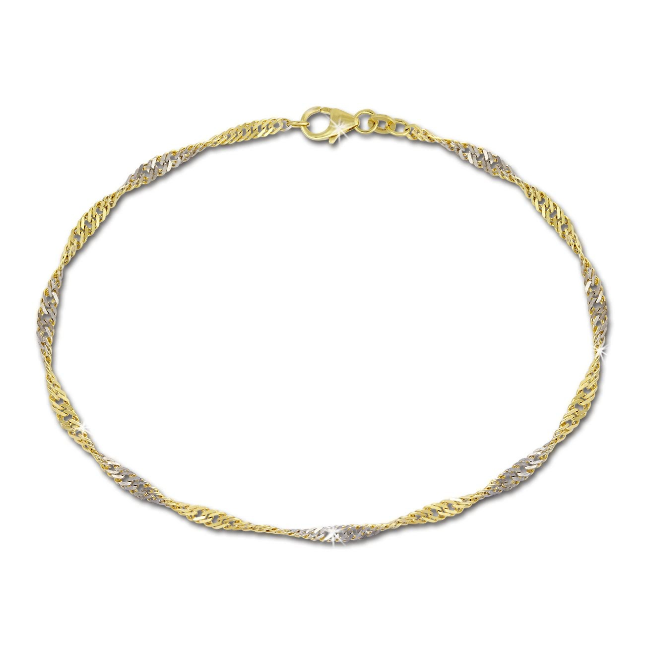 SilberDream Armband Singapur gedreht 333 Gold 19cm 8 Karat GDA0069Y