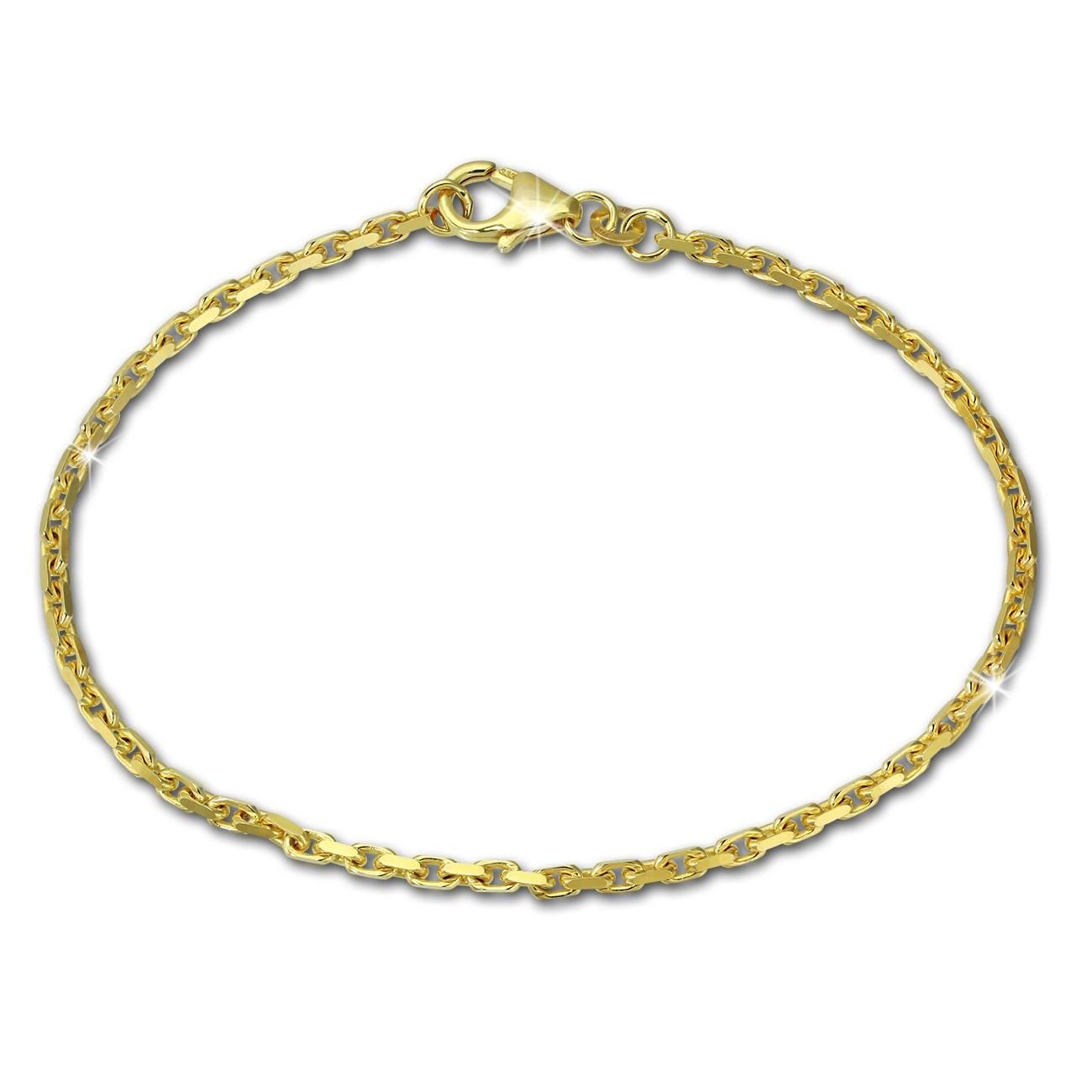 SilberDream Armband Anker diamantiert 333 Gold 18,5cm 8 Karat GDA0218Y
