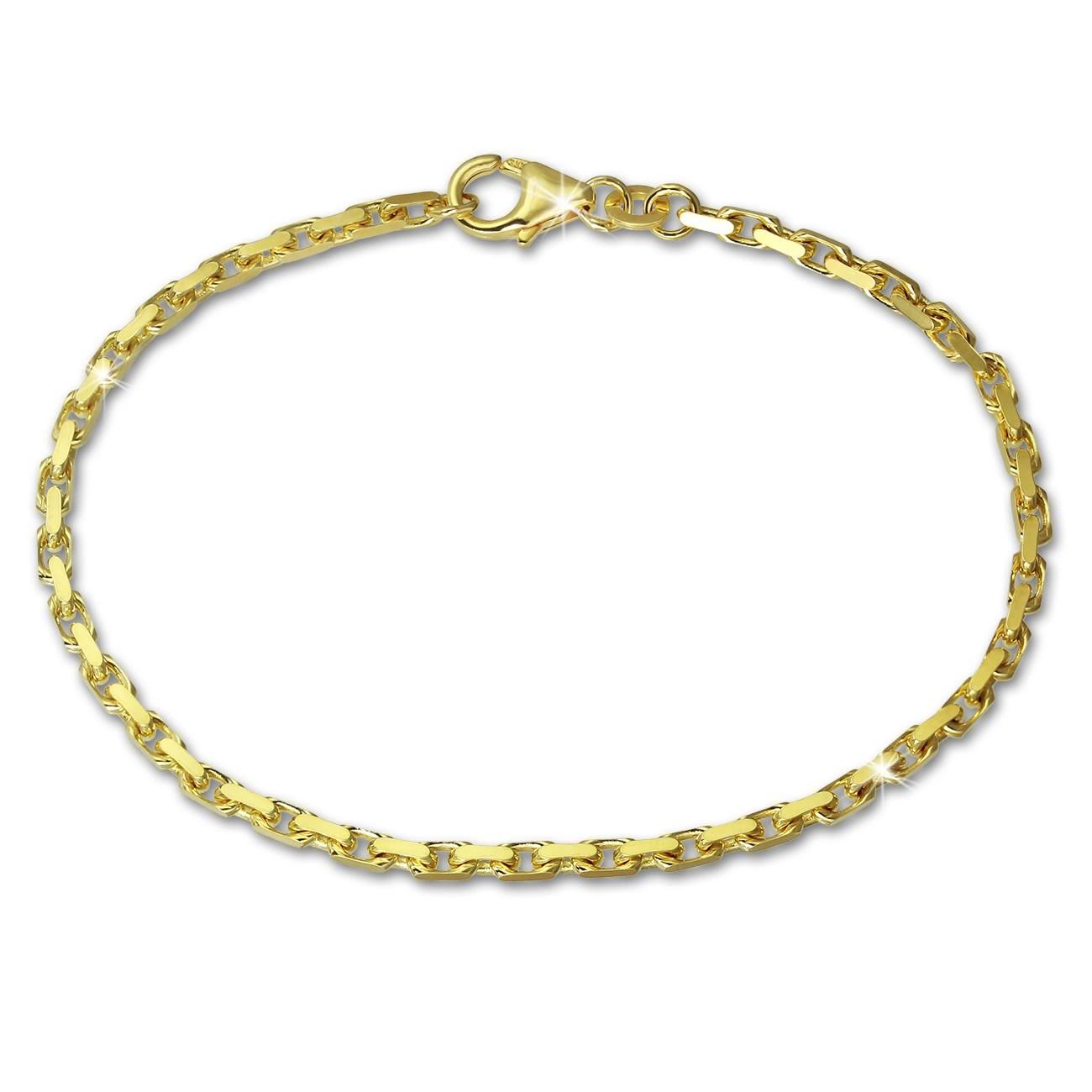 SilberDream Armband Anker diamantiert 333 Gold 18,5cm 8 Karat GDA0228Y