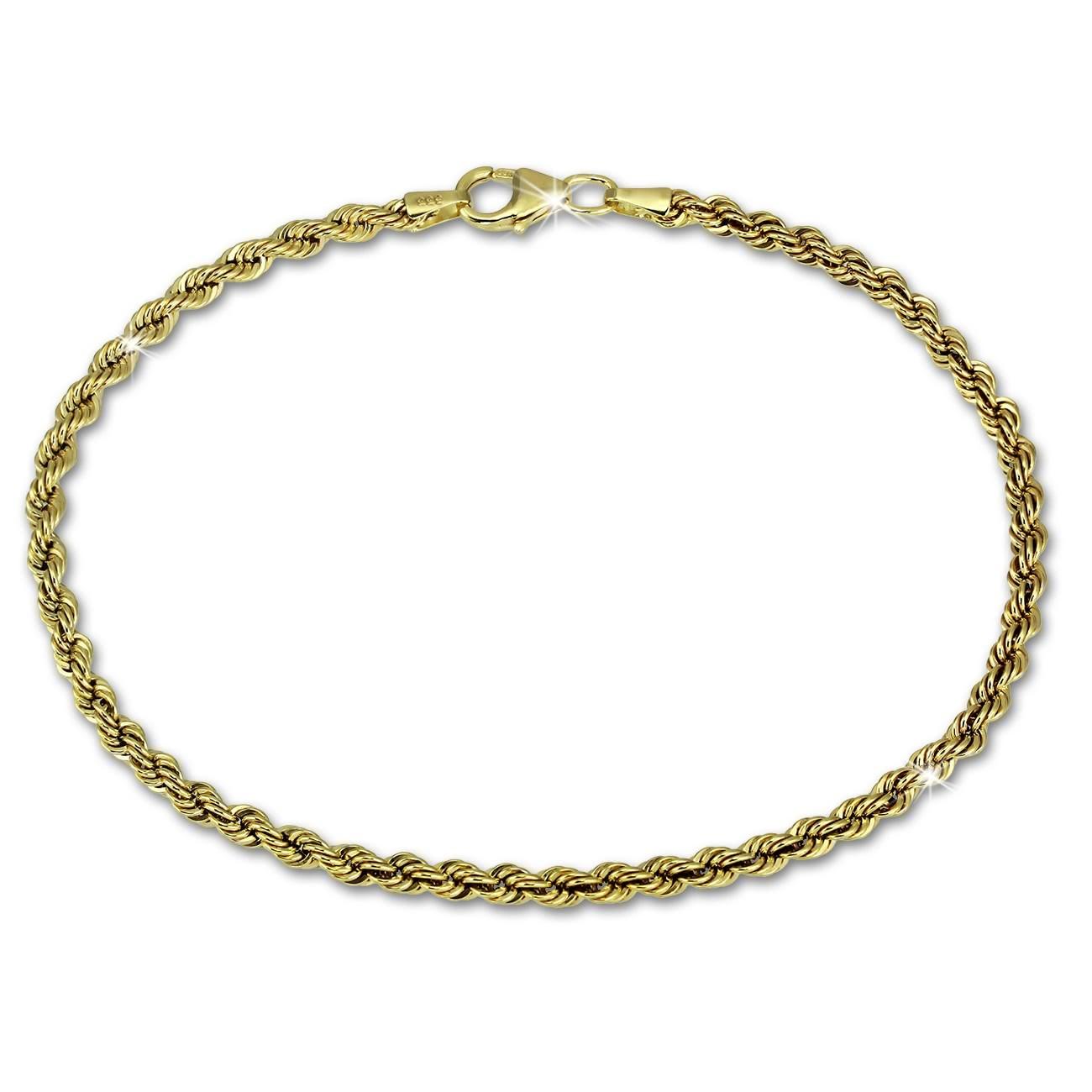 SilberDream Armband Kordel hohl 333 Gold 19cm 8 Karat GDA0319Y