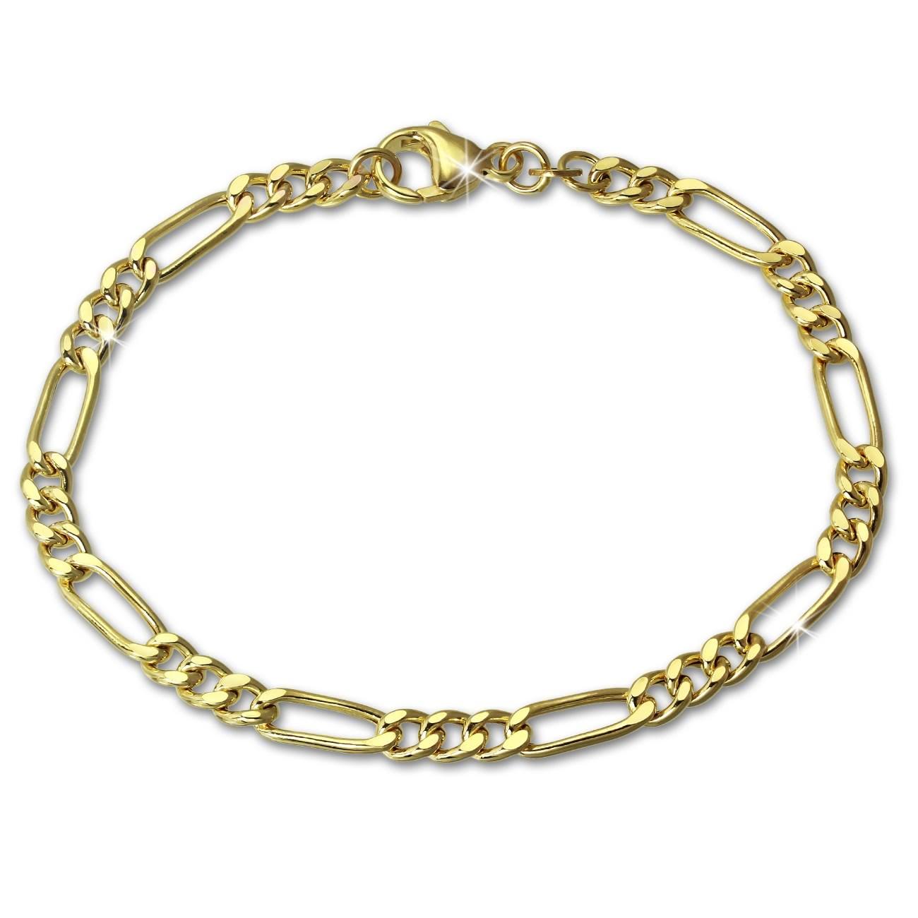 SilberDream Armband Figaro hohl 333 Gold 19cm 8 Karat GDA0369Y
