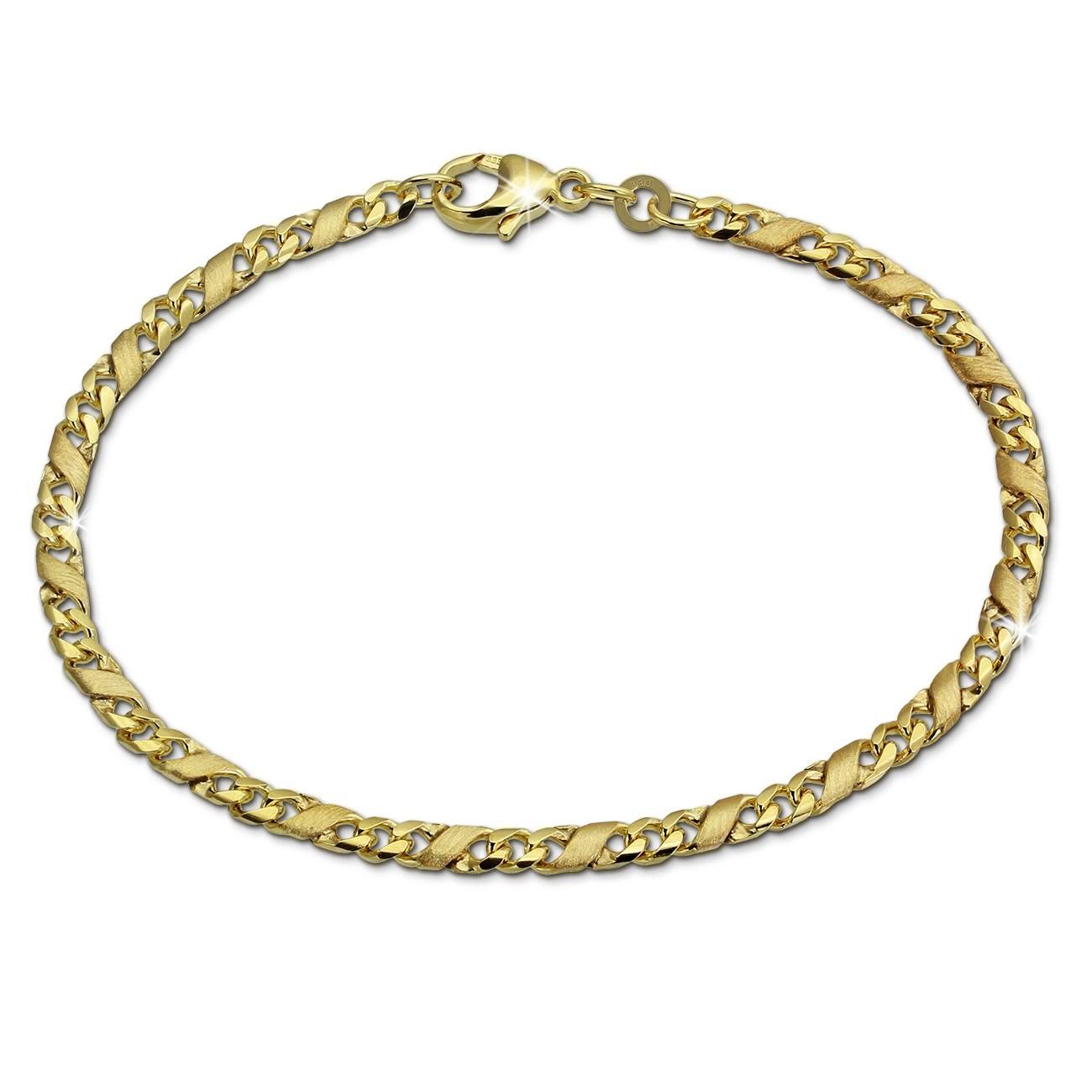 SilberDream Armband Dollar-Kette 333 Gelbgold Damen 18,5cm GDA0458Y