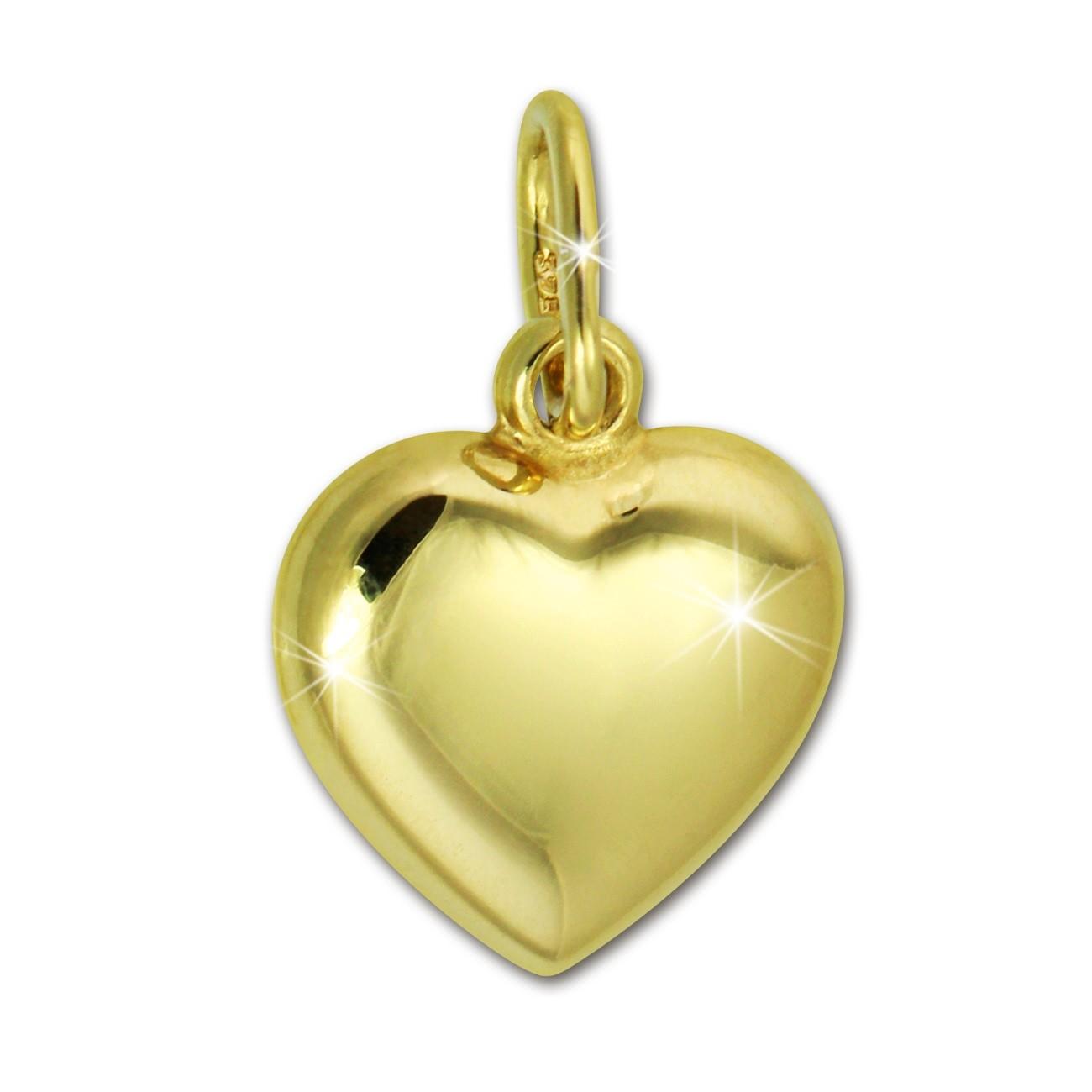 SilberDream Kettenanhänger Herz 375er Gelbgold Anhänger Echtschmuck GDH000Y