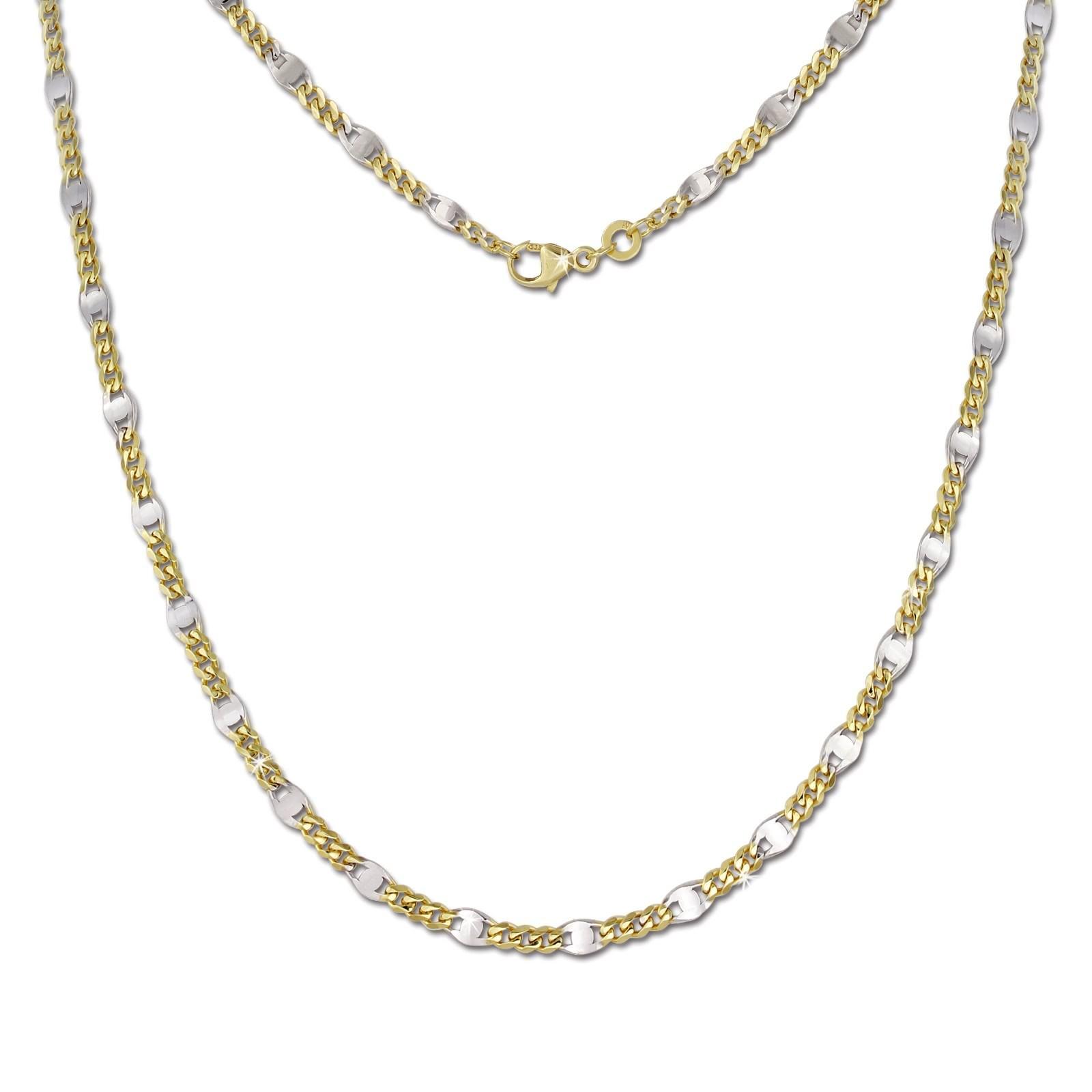 SilberDream Collier Kette Plättchen 333 Gelbgold Damen 45cm GDK00345T
