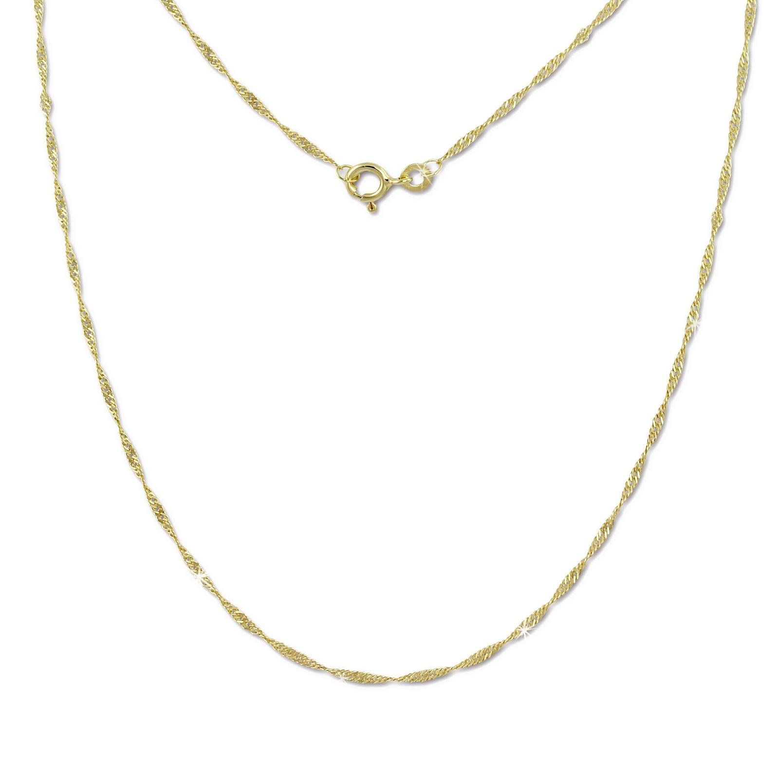 SilberDream Collier Kette Singapur 333 Gold Damen 45cm 8 Karat GDK00445Y