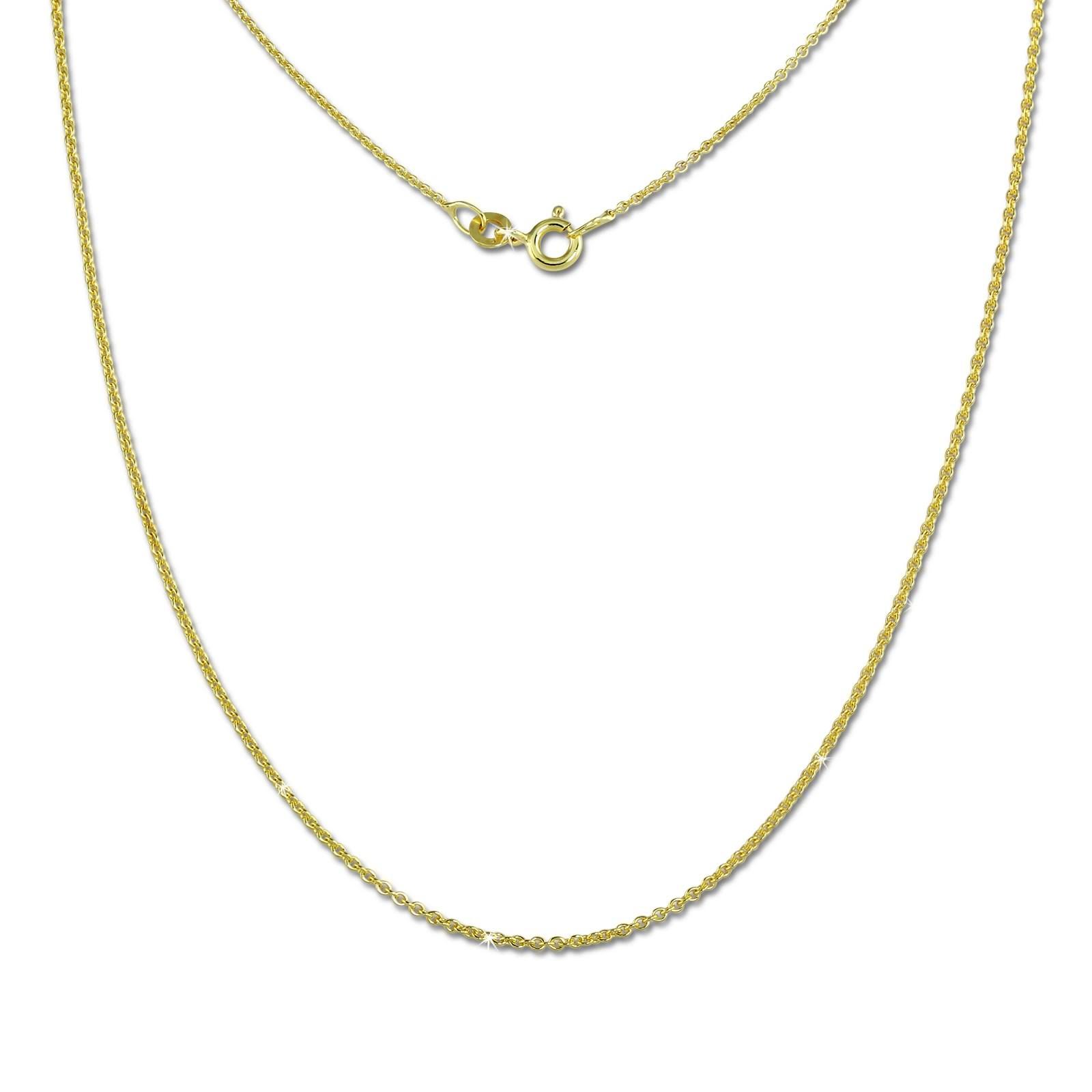 SilberDream Collier Kette Anker rund 333 Gold Damen 42cm 8 Karat GDK00845Y