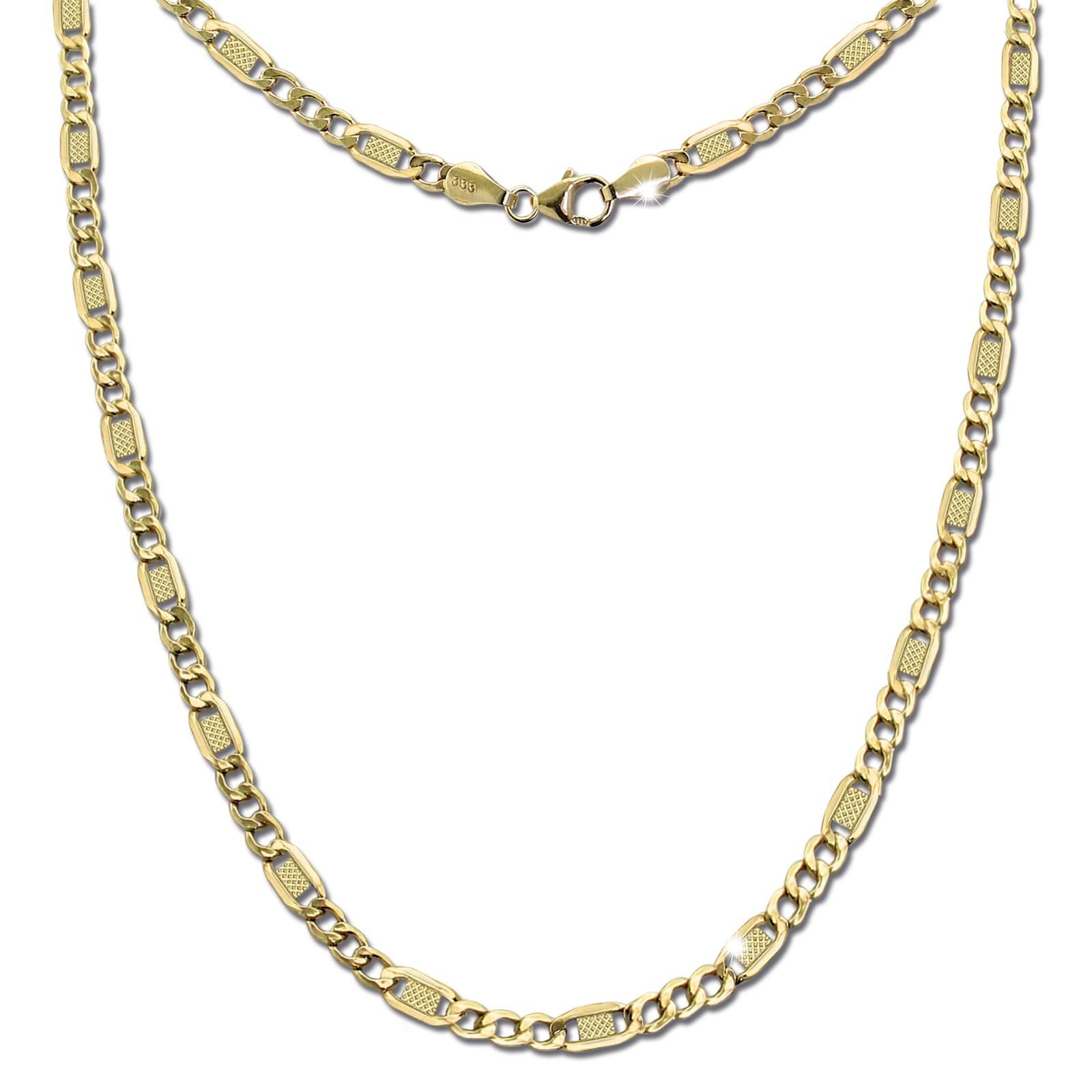 GoldDream Damen Colliers Halskette 50cm Gelbgold 8 Karat GDKB01050Y