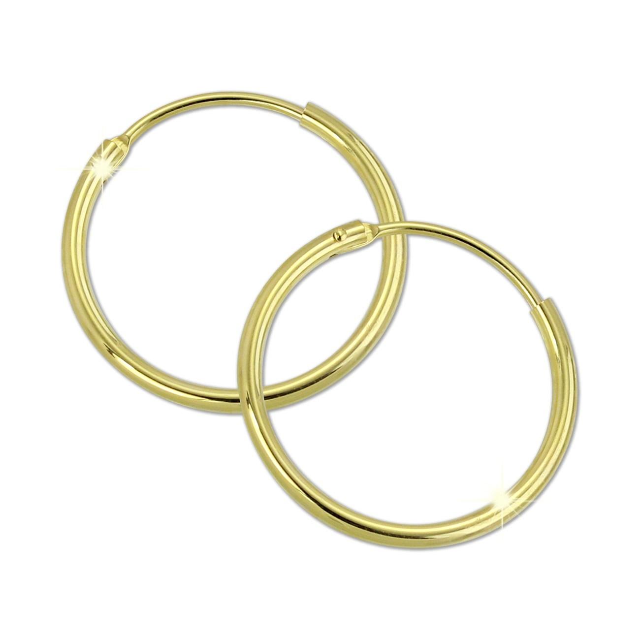GoldDream Gold Creole 20mm Ohrring 333er Gelbgold Echtschmuck GDO0031Y