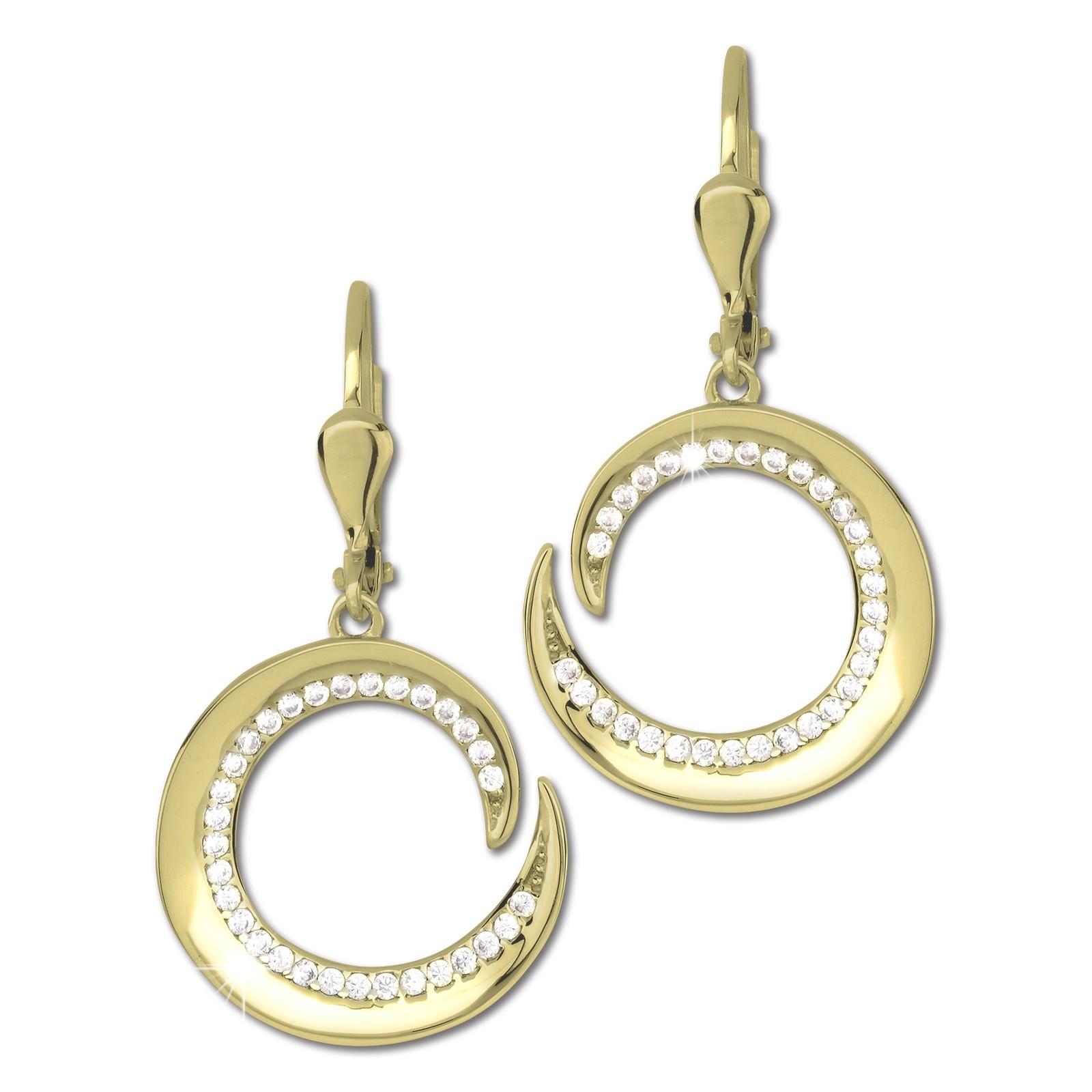 GoldDream Ohrhänger Spirale Zirkonia weiß Ohrring 333er Gold GDO5650Y