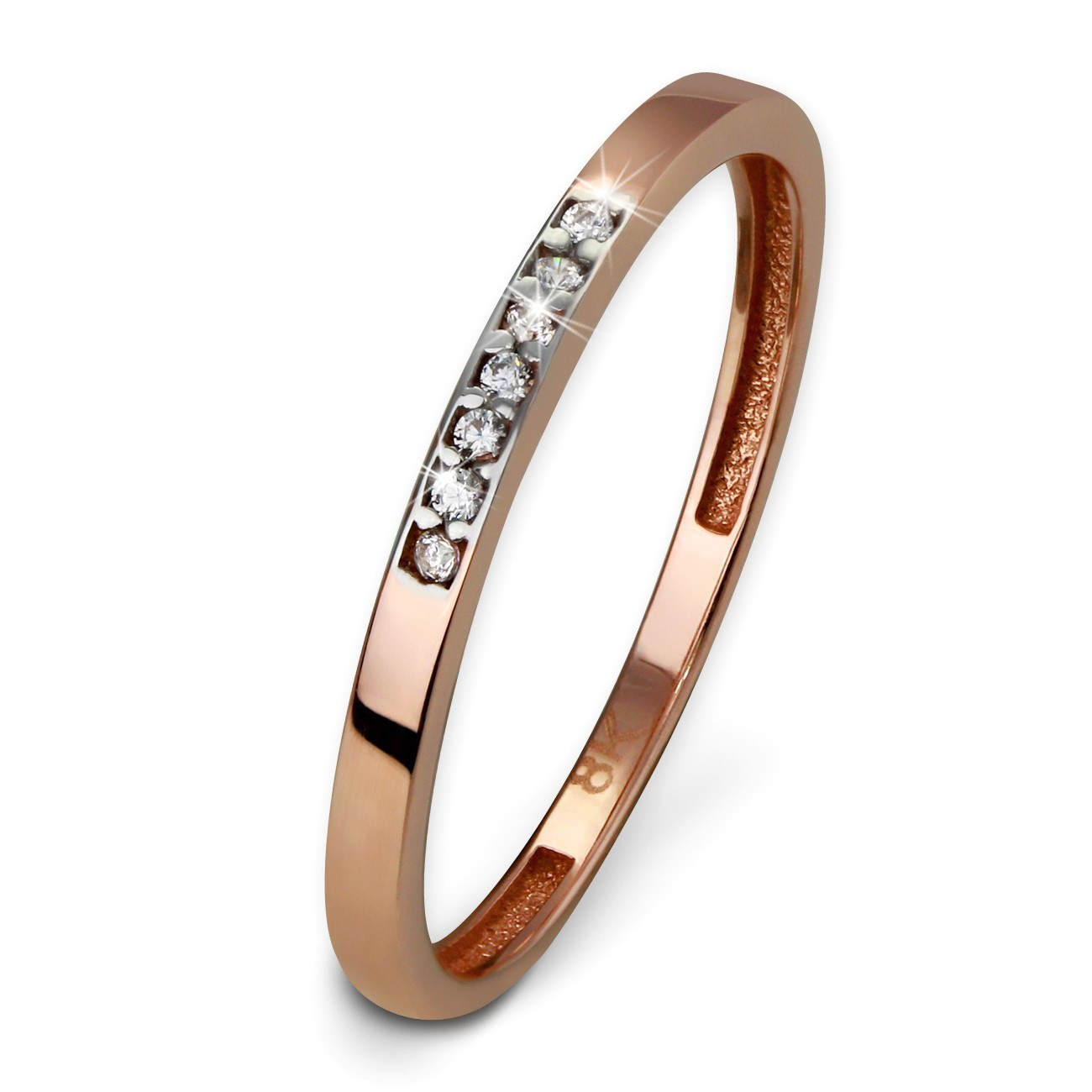 SilberDream Gold Ring Zirkonia weiß Gr.56 333er Rosegold GDR502E56