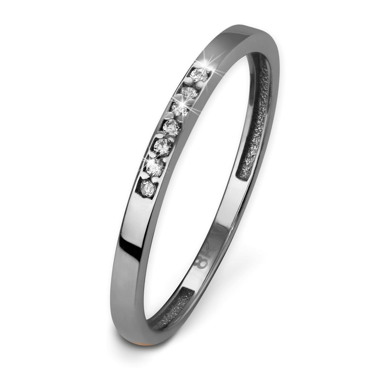 SilberDream Gold Ring Zirkonia weiß Gr.54 333er Weißgold GDR502J54