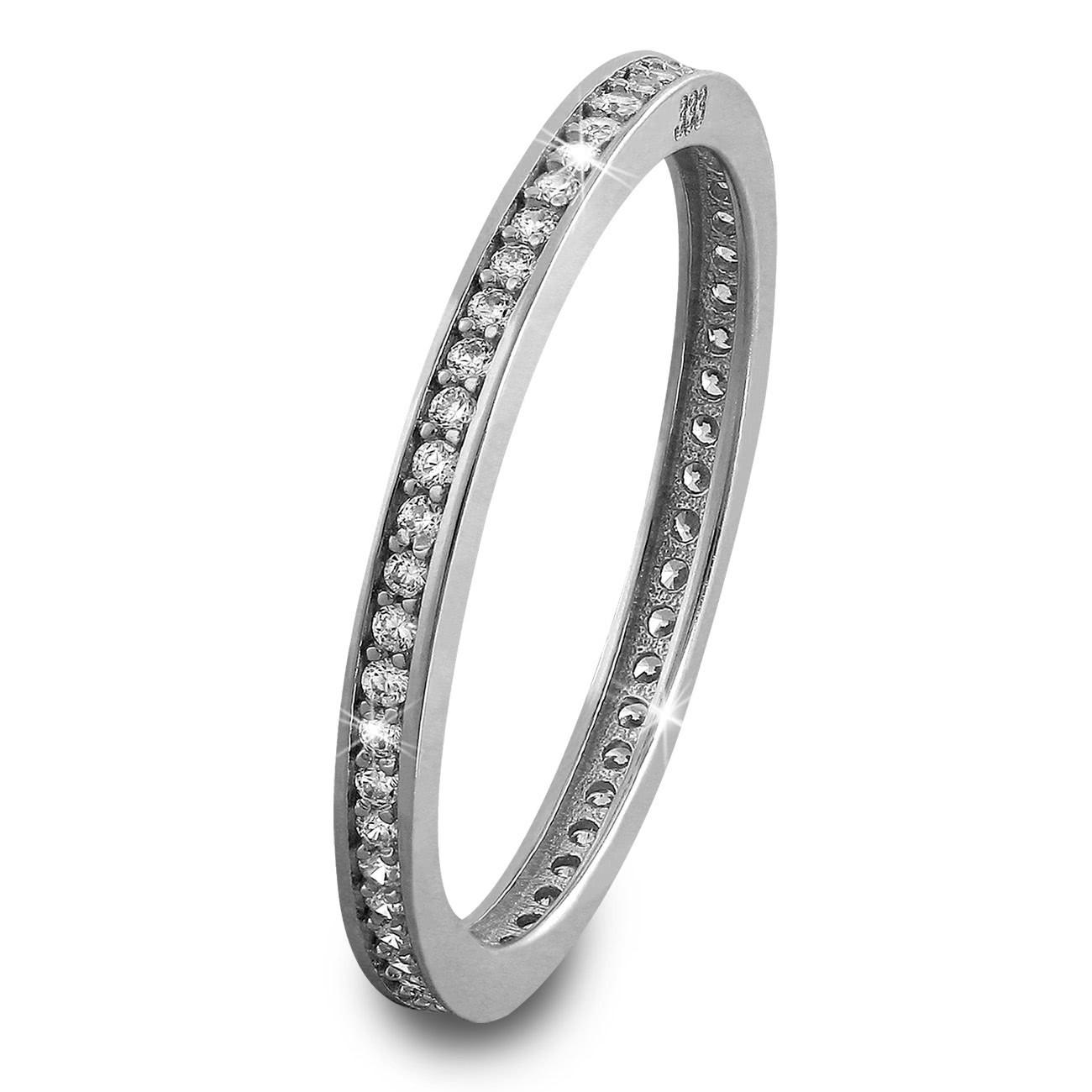 SilberDream Gold Ring Zirkonia weiß Gr.56 333er Weißgold GDR504J56