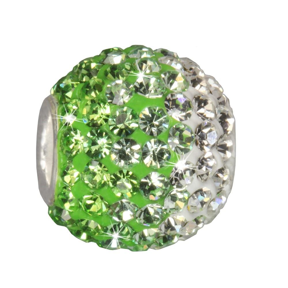 SilberDream Glitzer Bead Swarovski Elements grün ICE 925 GSB008