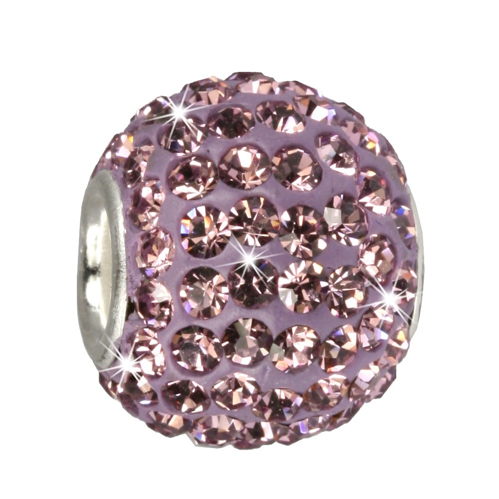 SilberDream Glitzer Bead Swarovski Elements flieder Shiny GSB203
