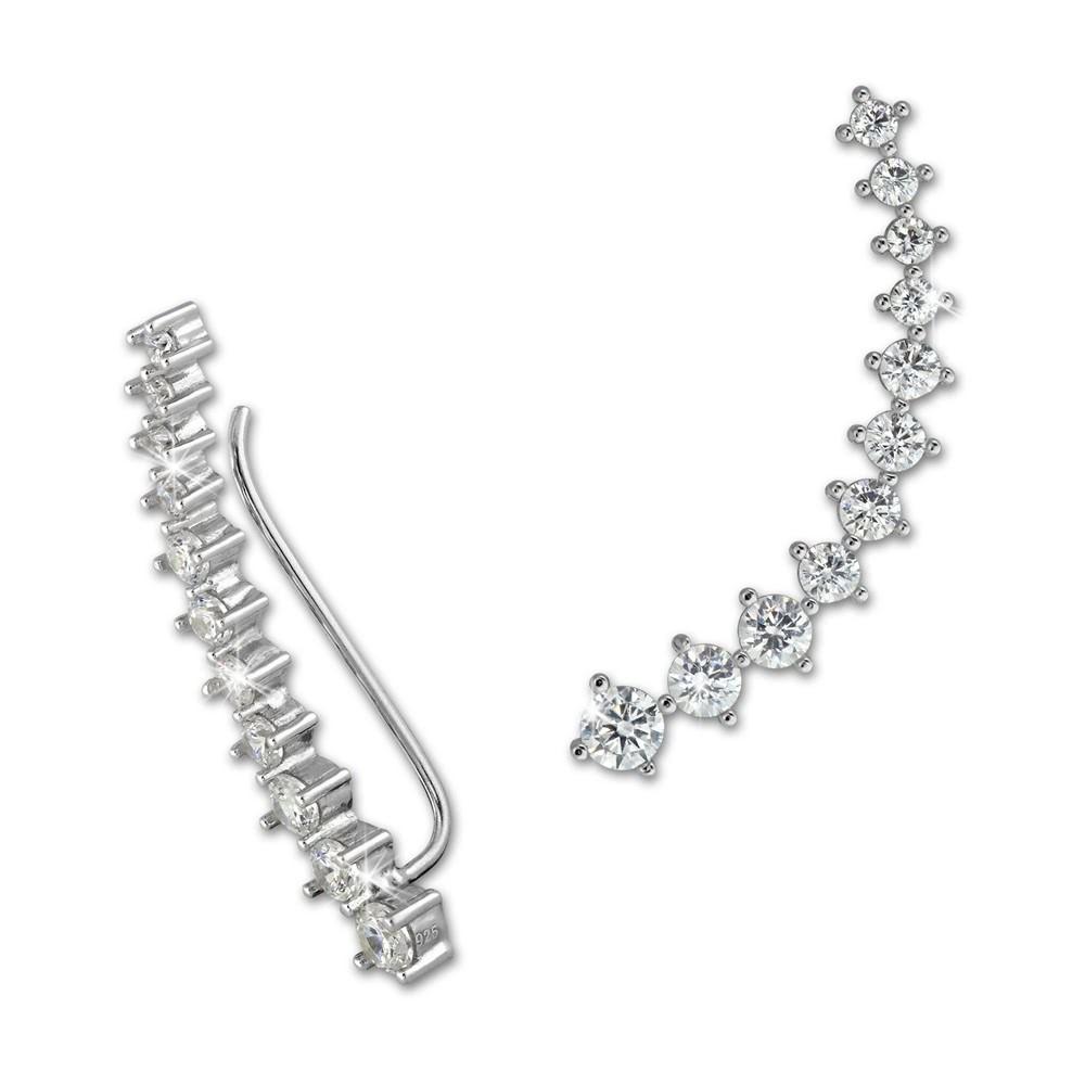 SilberDream Ear Cuff 11 Zirkonias Ohrringe Ohrklemme 925 Silber GSO415W
