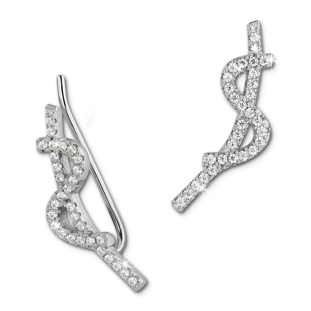 SilberDream Ear Cuff Wave Ohrringe Ohrklemme 925 Sterling Silber GSO451W