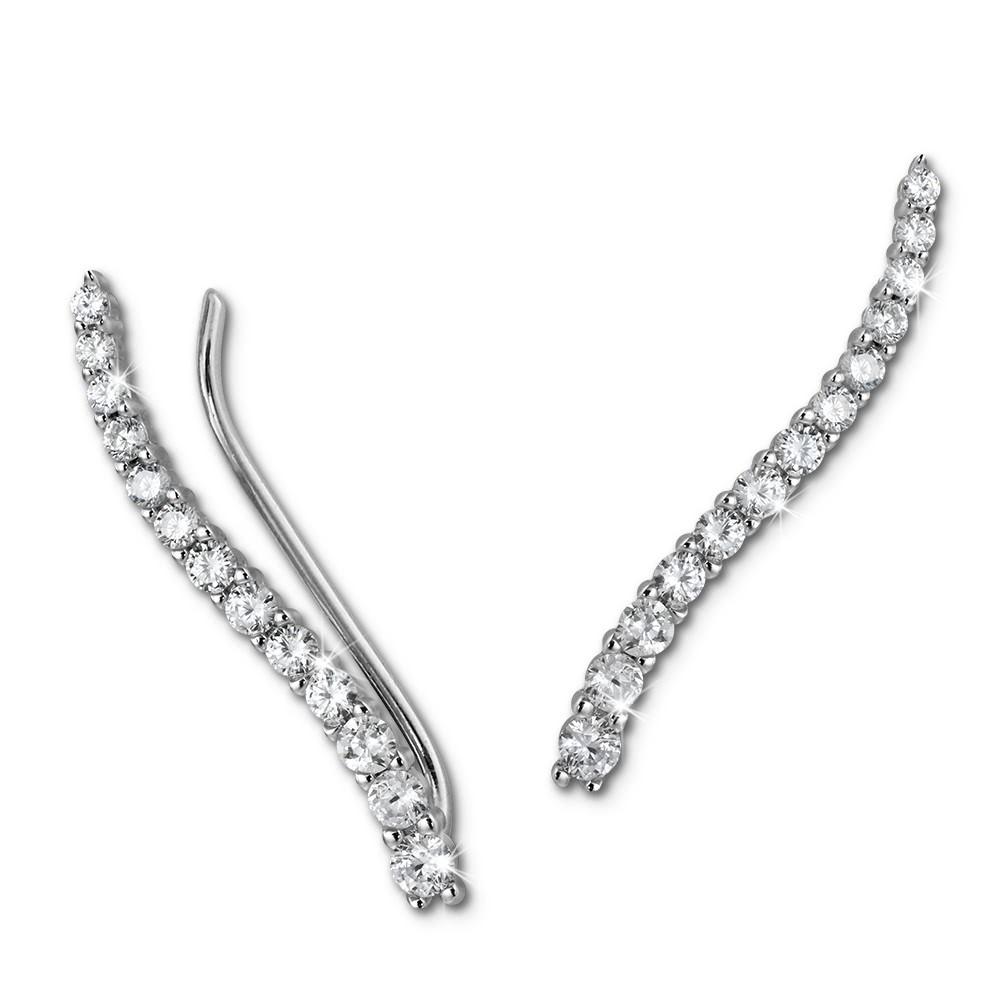 SilberDream Ear Cuff 13 kleine Zirkonias Ohrringe Ohrklemme 925 Silber GSO455W