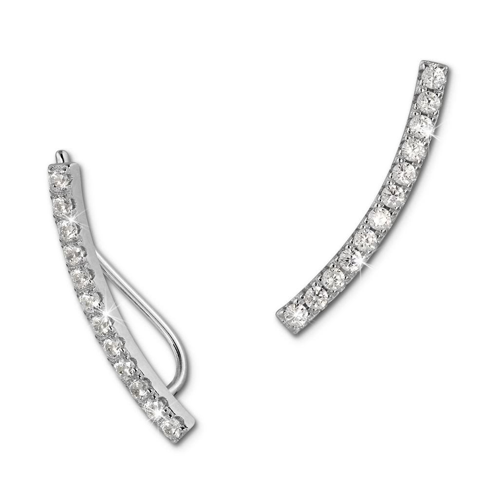 SilberDream Ear Cuff 12 kleine Zirkonias Ohrringe Ohrklemme 925 Silber GSO460W