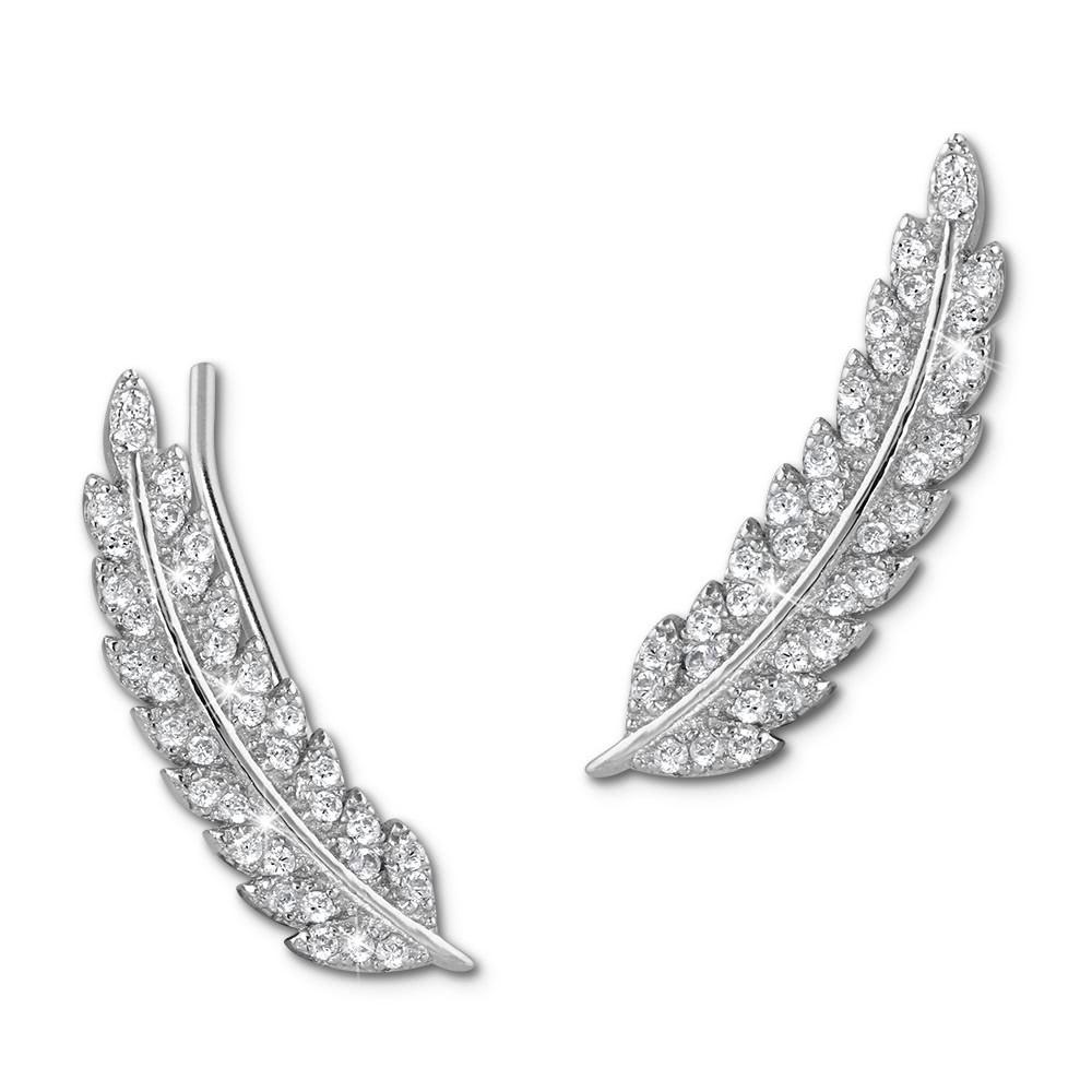 SilberDream Ear Cuff Feder Ohrringe Ohrklemme 925 Sterling Silber GSO465W