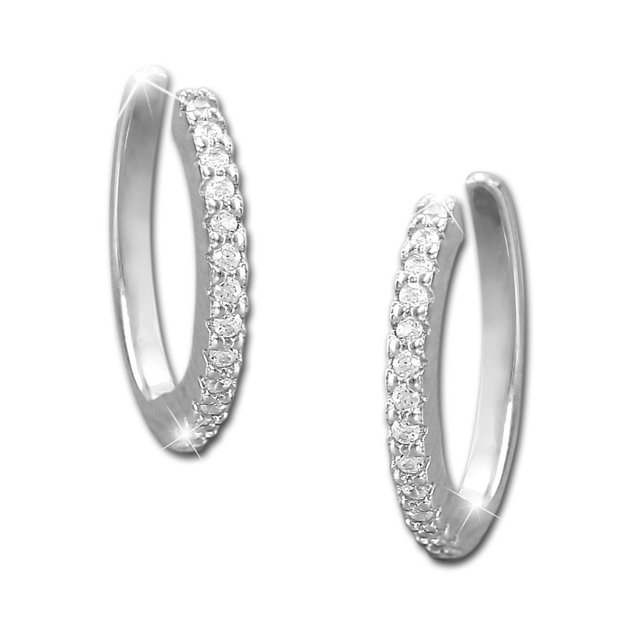 SilberDream Ohrklemme 13 weiße Zirkonias Ear Cuff Ohrringe 925 Silber GSO471W