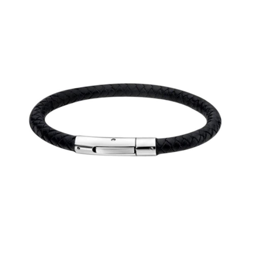 LS Leder-Armband rund schwarz Lotus Style Edelstahlschmuck JLS1119-2-1