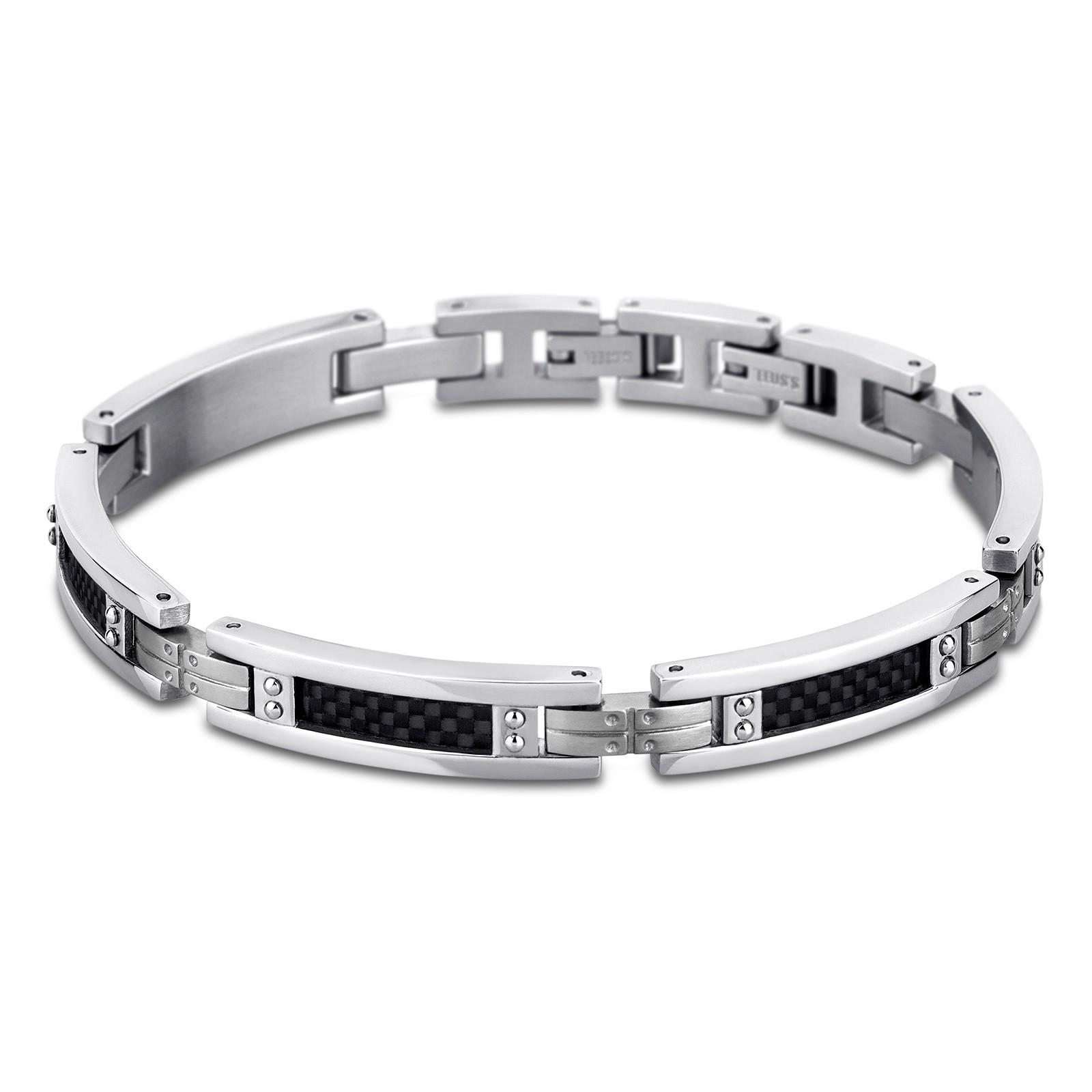 LOTUS Style Herren Armband Men in Black-Kollektion Edelstahl JLS1650-2-1